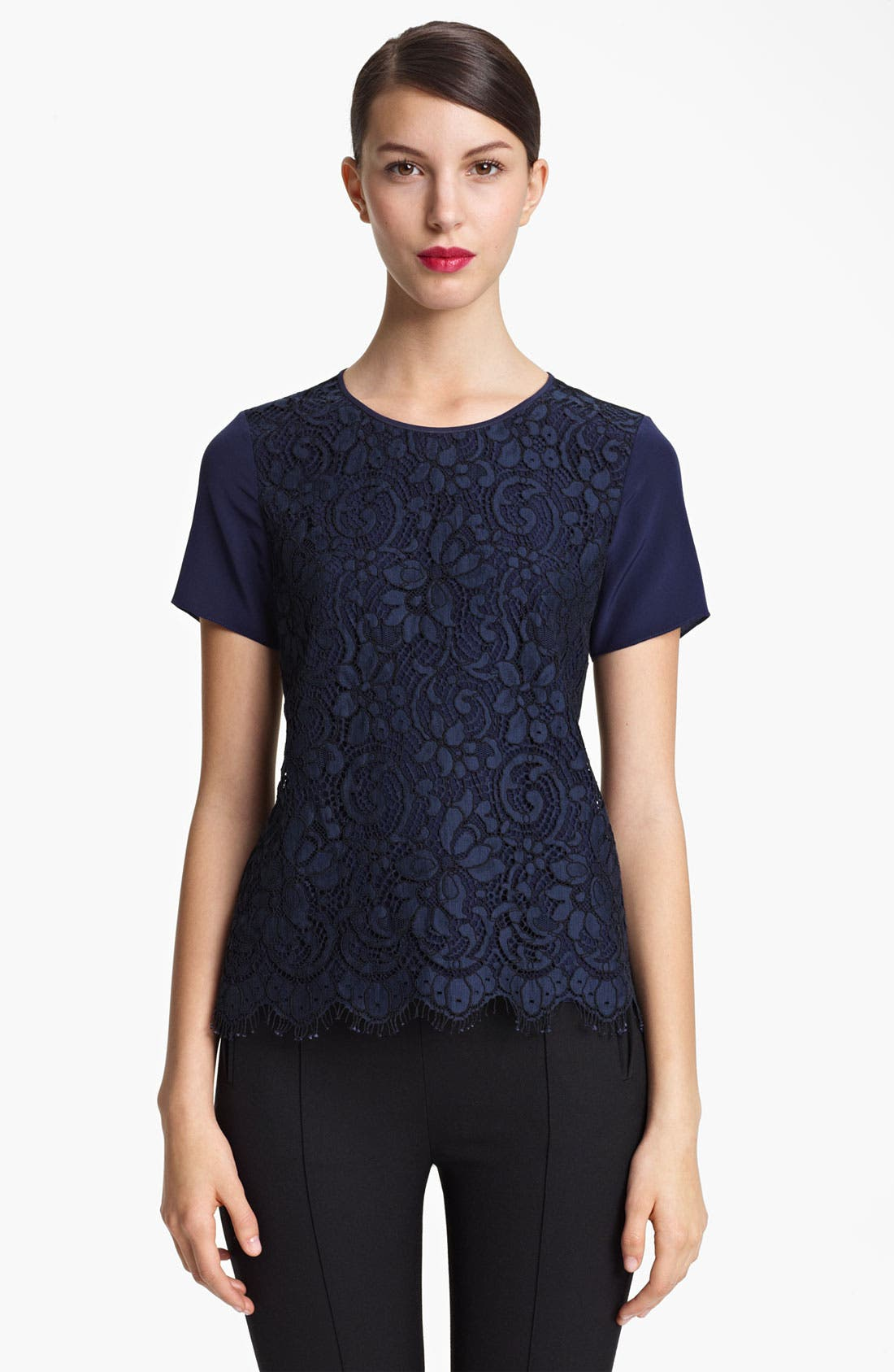 Alternate Image 1 Selected - Jason Wu Corded Lace Front Top