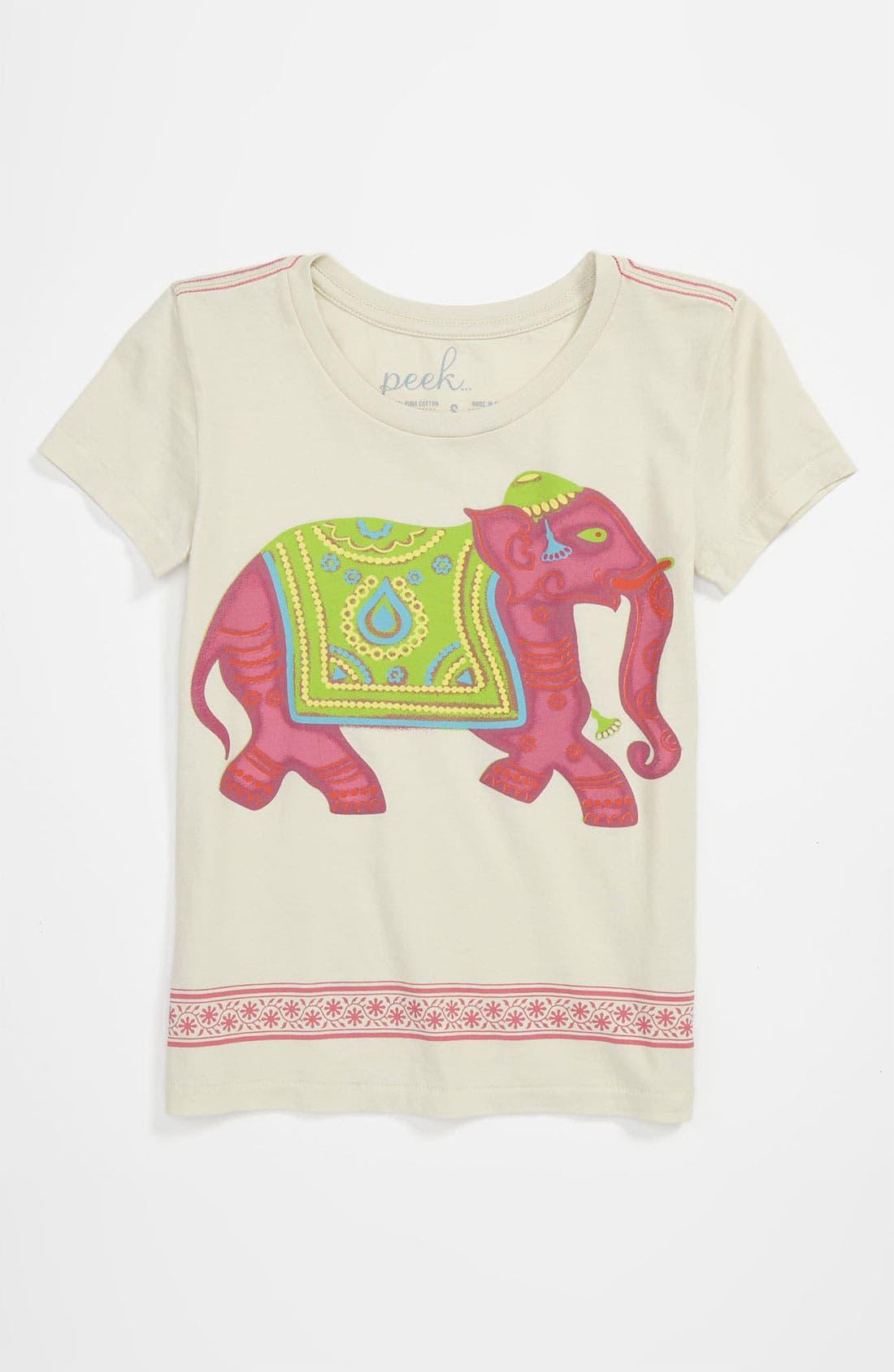 Alternate Image 1 Selected - Peek 'Elephant' Tee (Big Girls)
