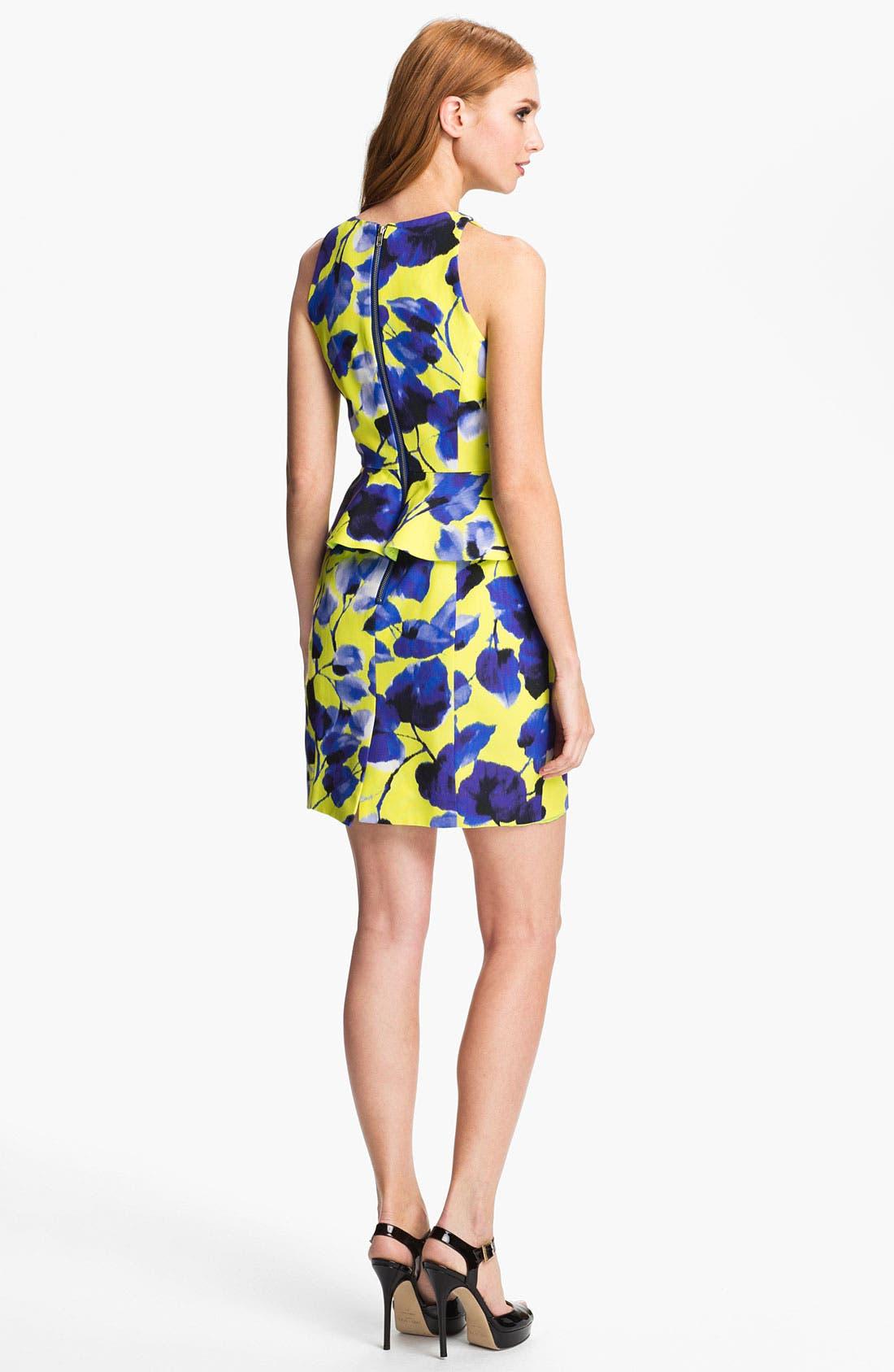 Alternate Image 2  - Milly Print Cotton Blend Sheath Dress