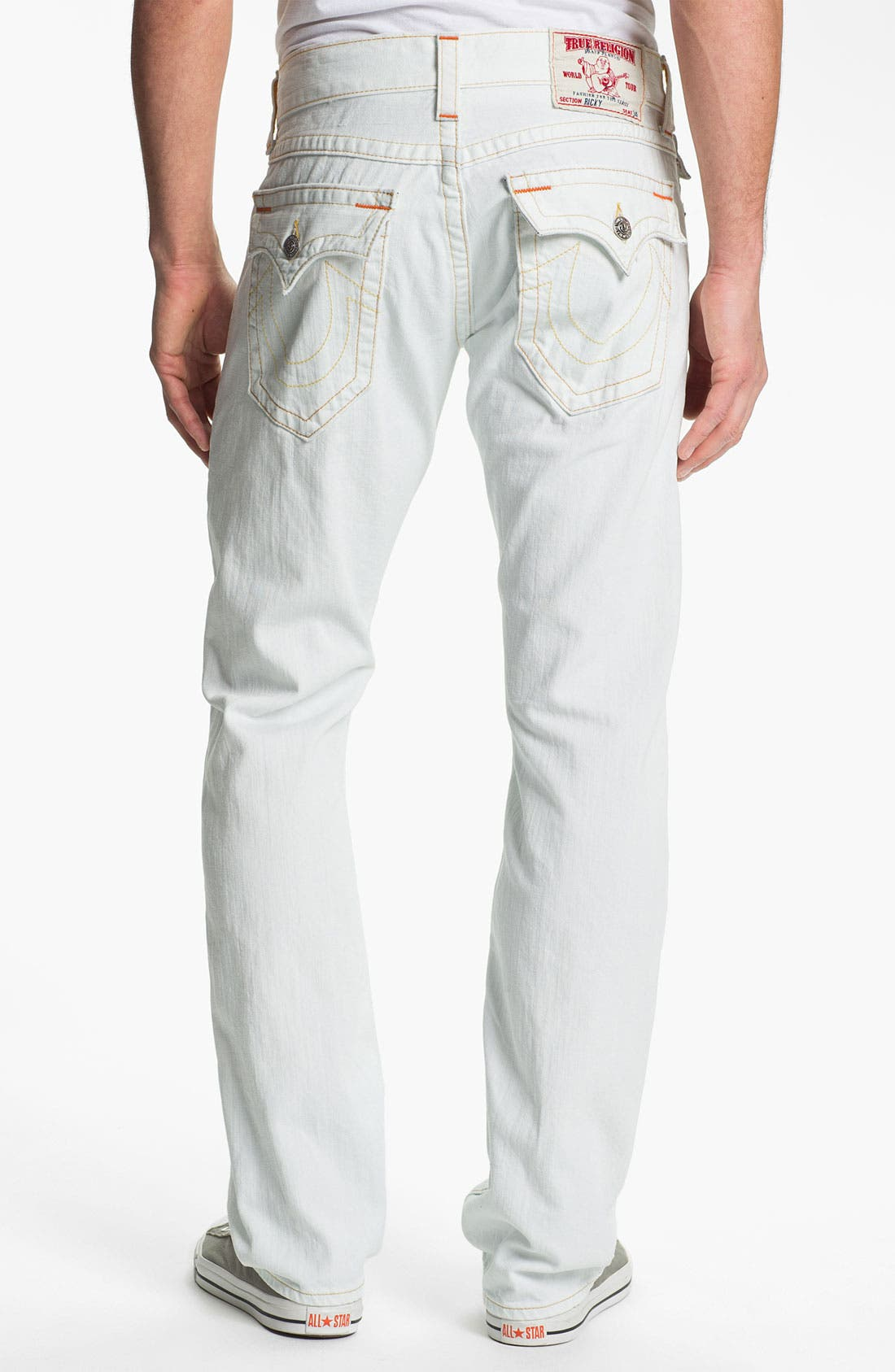 Alternate Image 1 Selected - True Religion Brand Jeans 'Ricky' Straight Leg Jeans (Bleached) (Online Exclusive)