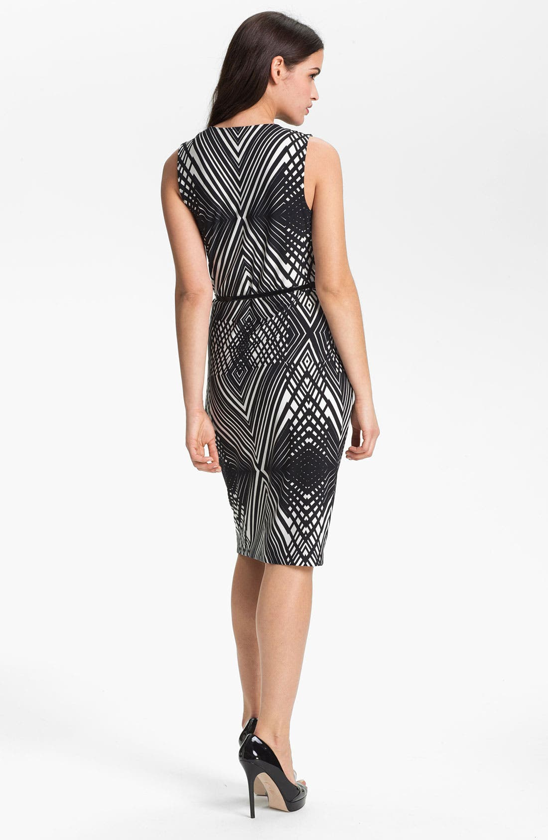 Alternate Image 2  - Anne Klein 'Abstract Line' Cowl Neck Dress
