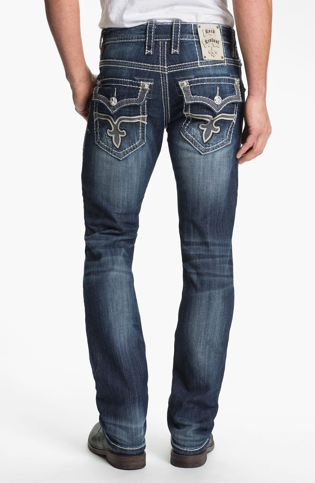 Main Image - Rock Revival 'Rocky' Straight Leg Jeans (Medium Blue)