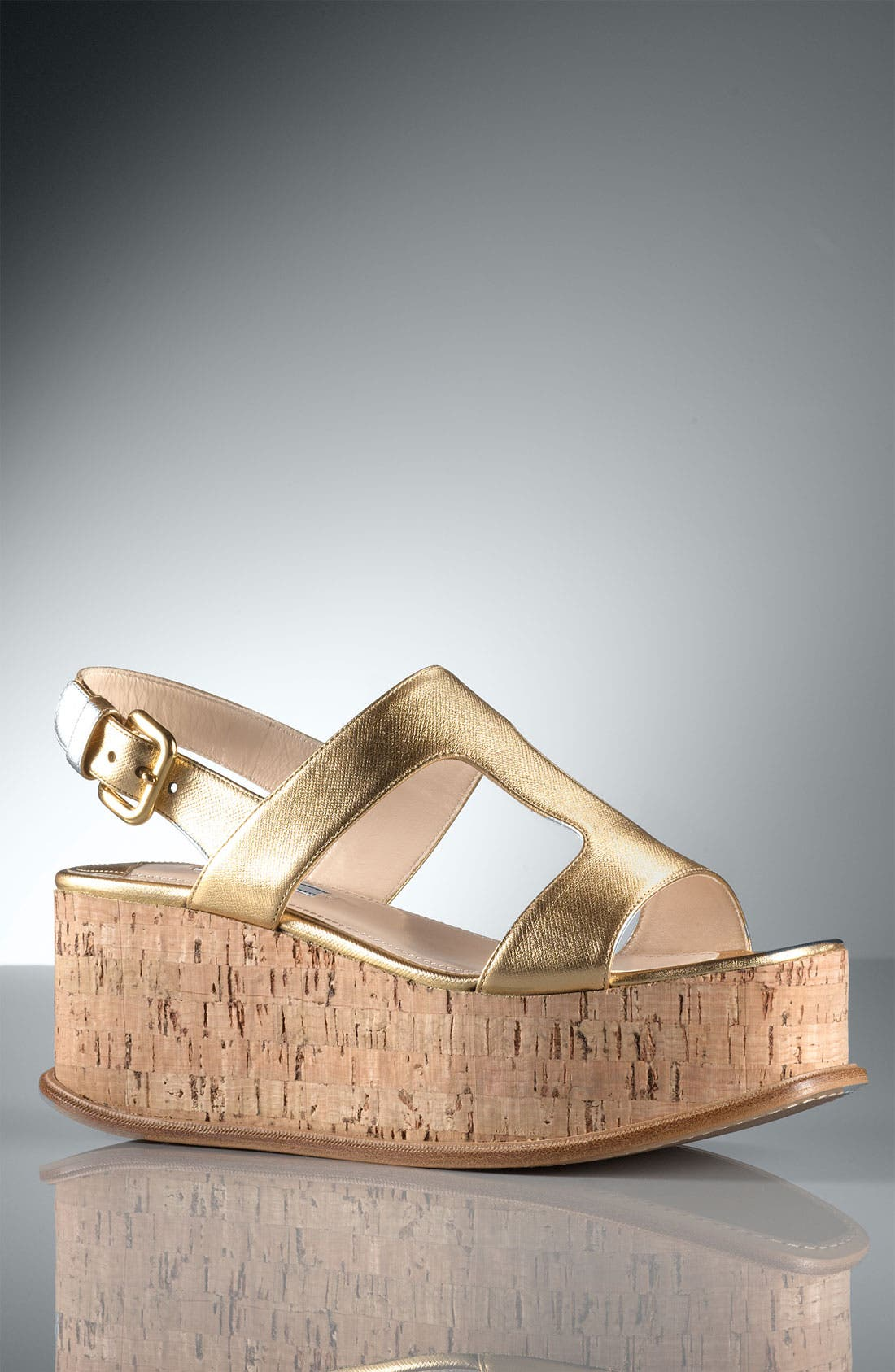 Alternate Image 5  - Prada T-Strap Platform Wedge Sandal