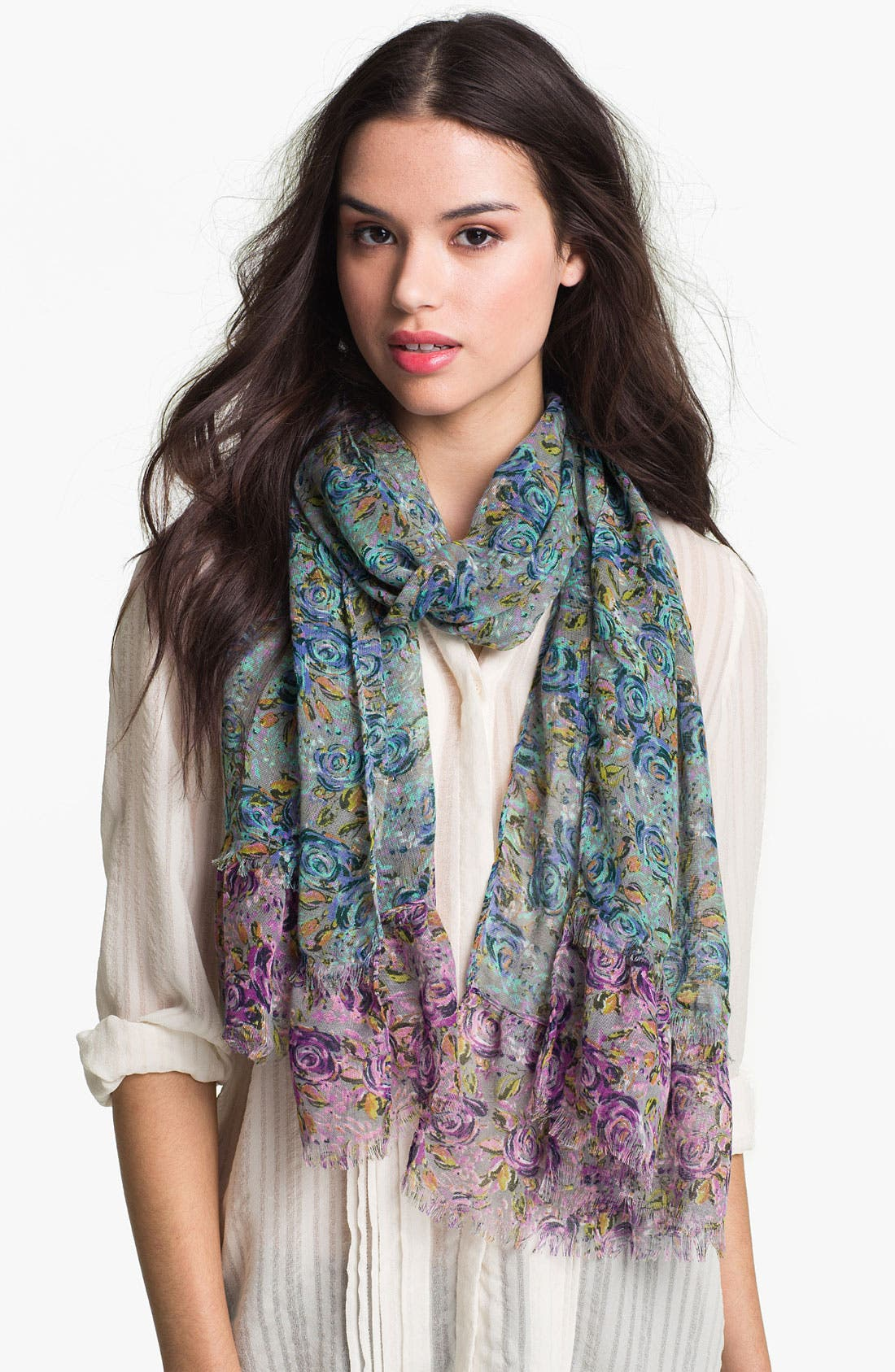 Main Image - Chelsey Floral Scarf