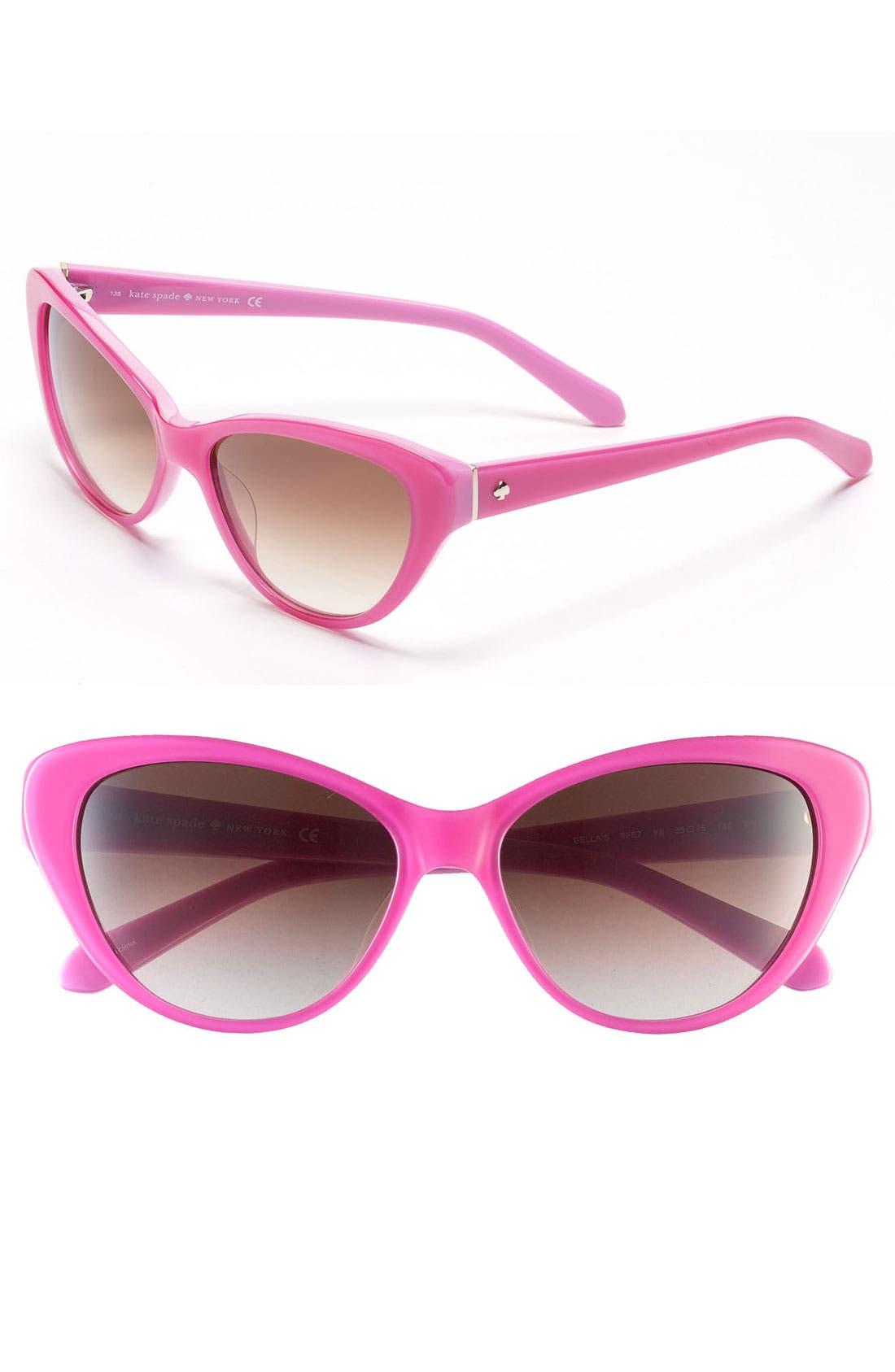 Main Image - kate spade new york 'della' 55mm sunglasses