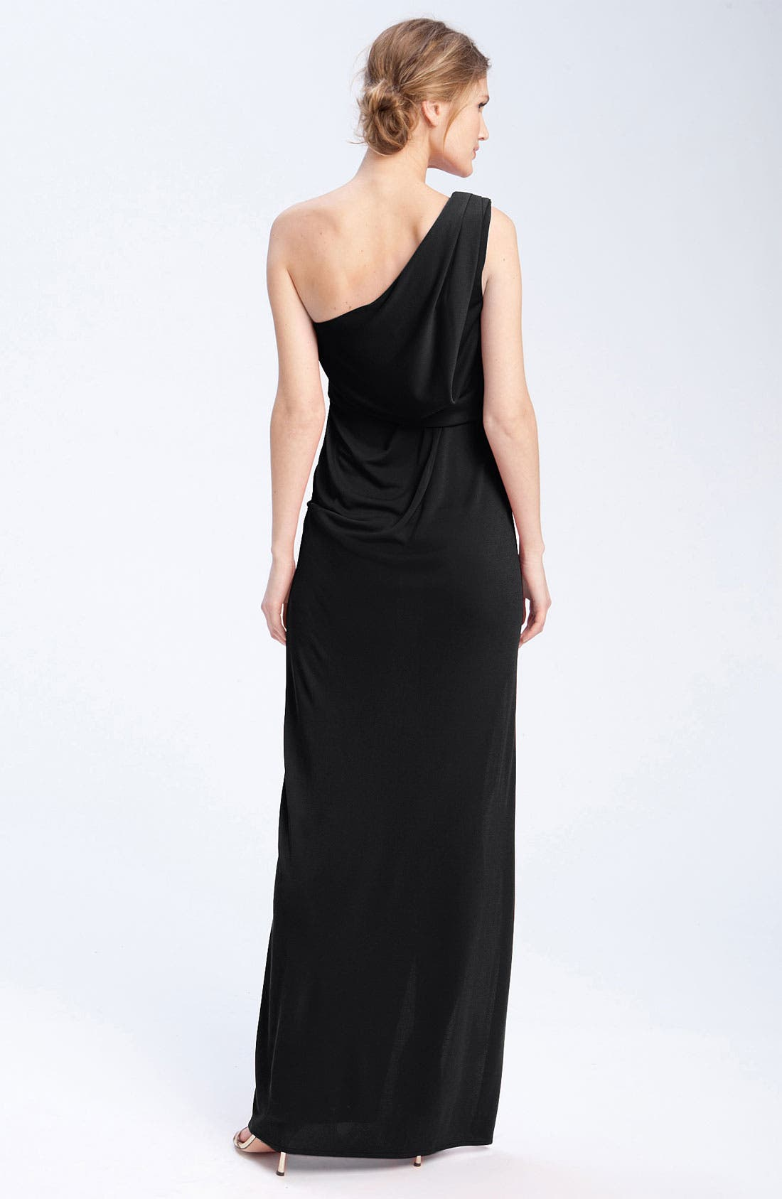 Alternate Image 2  - BCBGMAXAZRIA One Shoulder Jersey Gown
