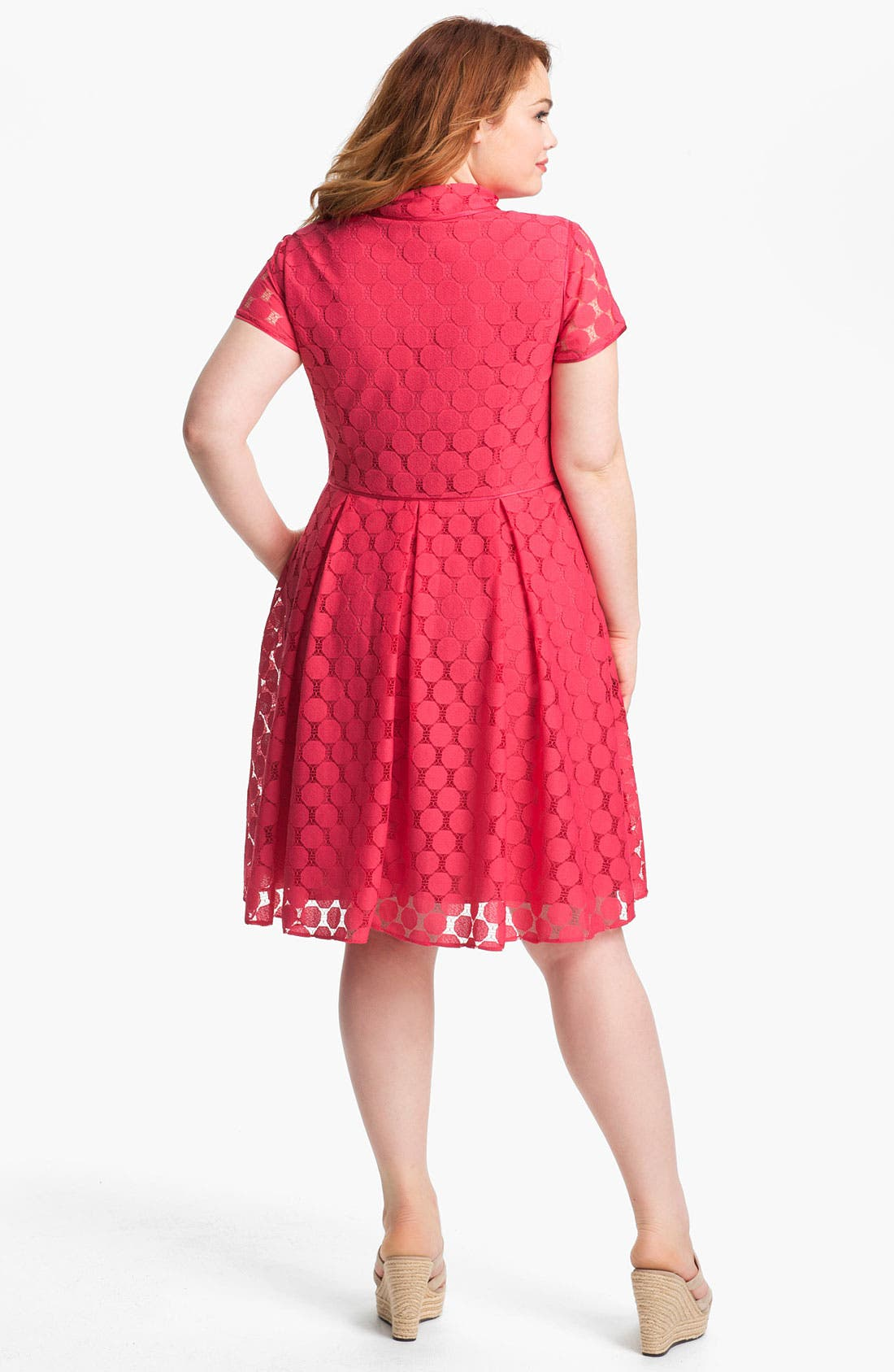 Alternate Image 2  - Adrianna Papell Fit & Flare Shirtdress (Plus)