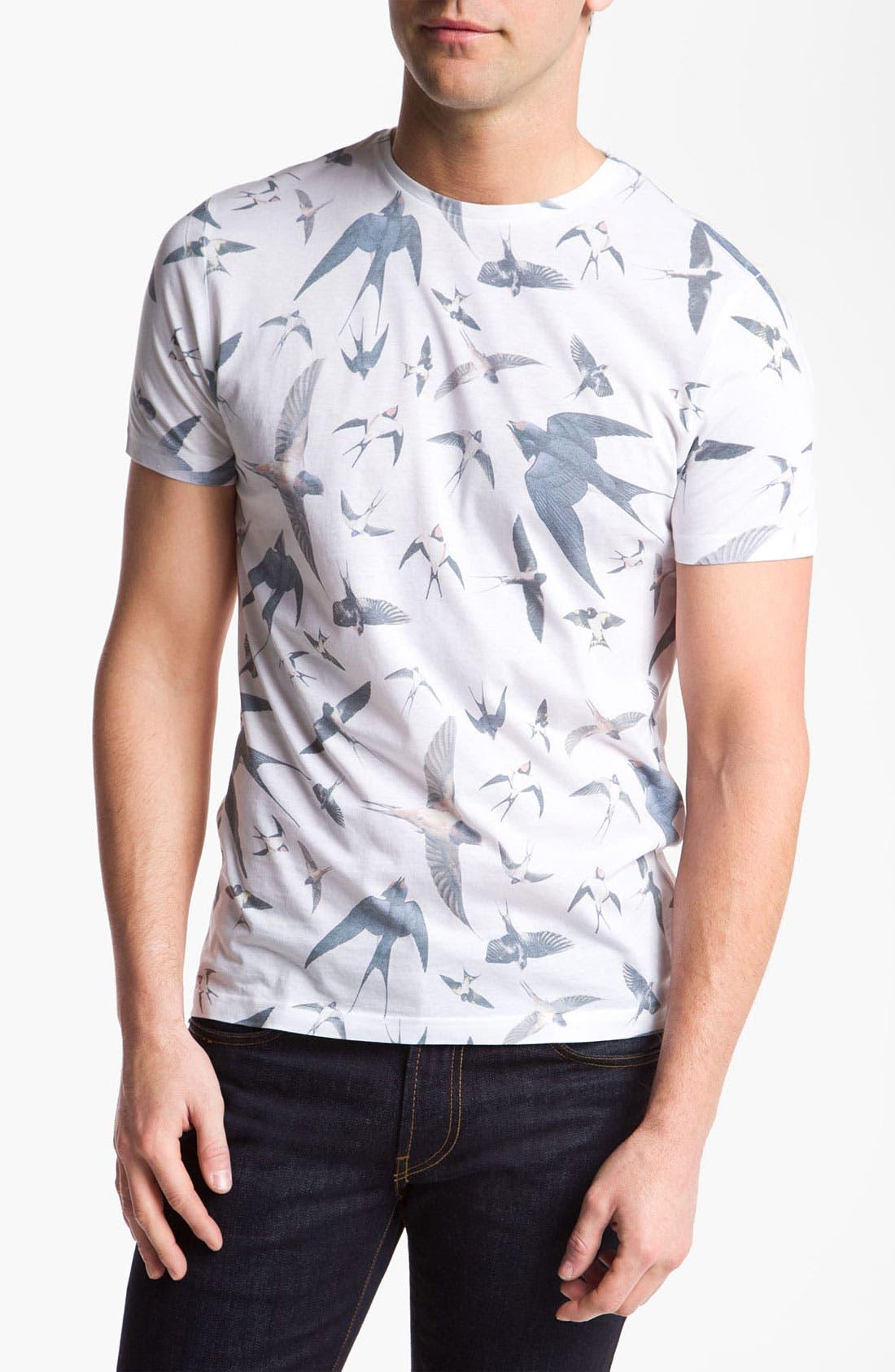 Alternate Image 1 Selected - Topman Bird Print T-Shirt