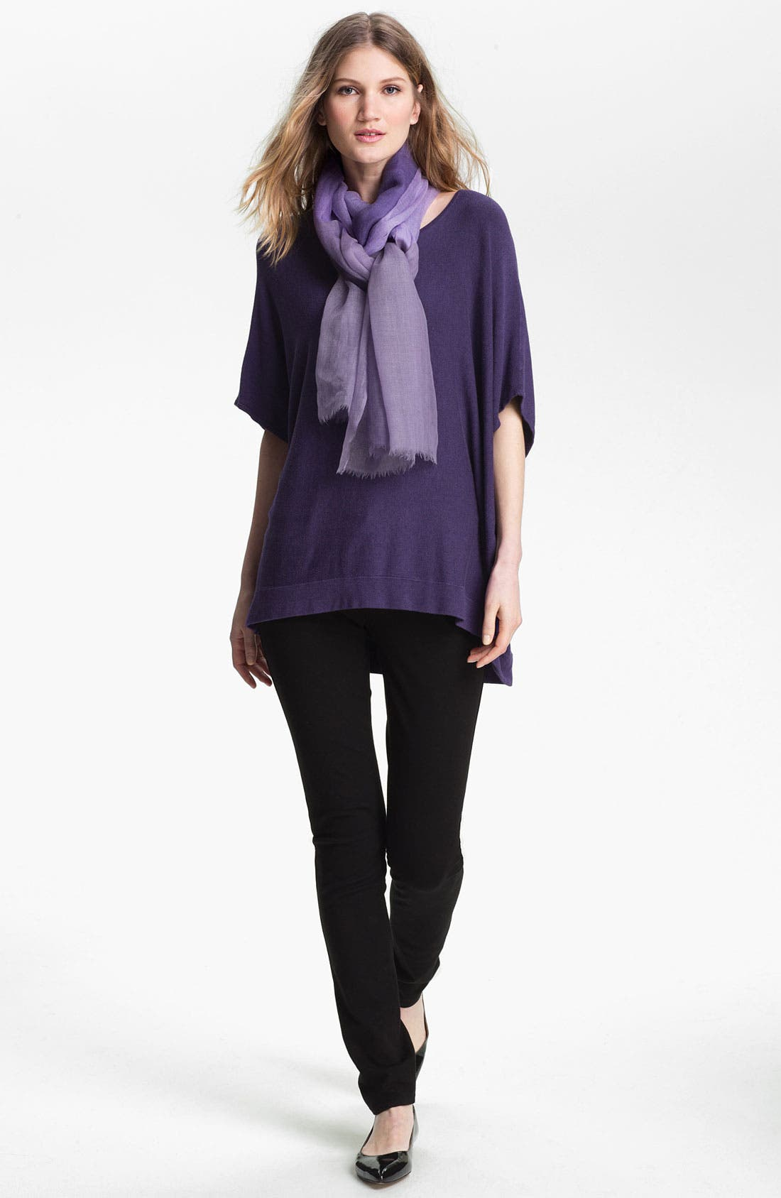 Alternate Image 5  - Eileen Fisher Bateau Neck Boxy Knit Top (Online Exclusive)
