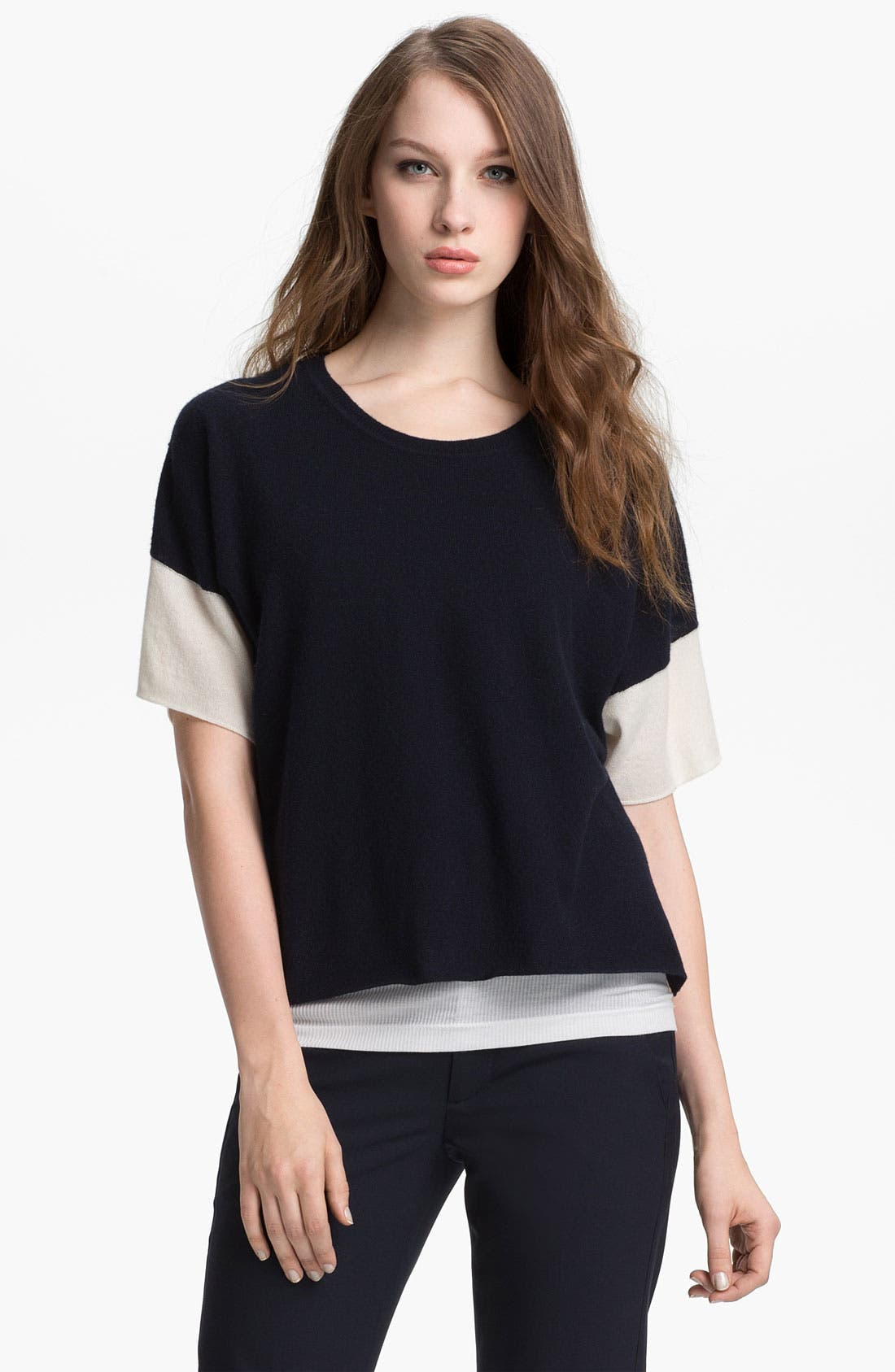 Alternate Image 1 Selected - Vince Colorblock Cashmere Sweater