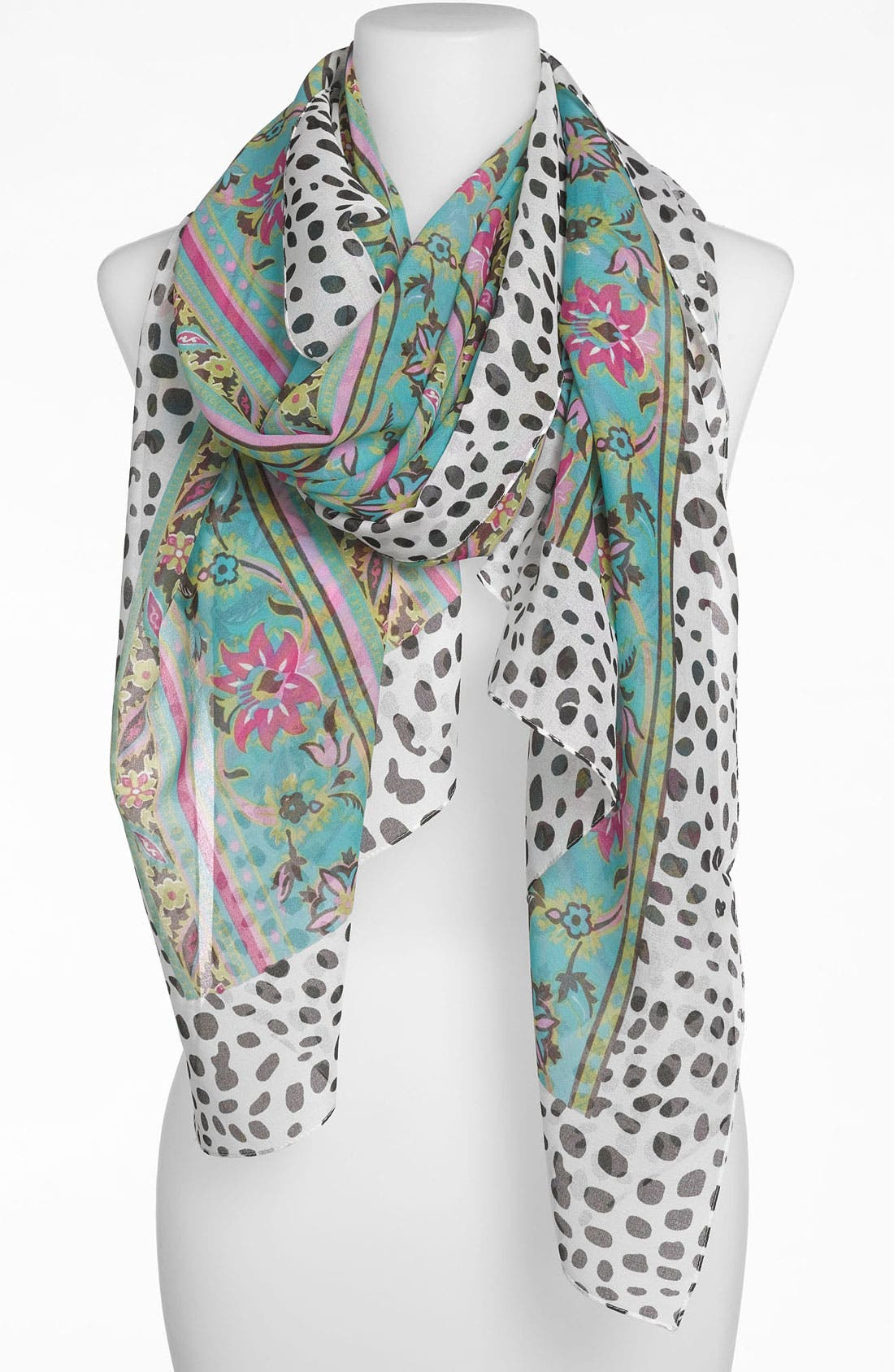 Alternate Image 1 Selected - Nordstrom 'Flowers & Spots' Scarf