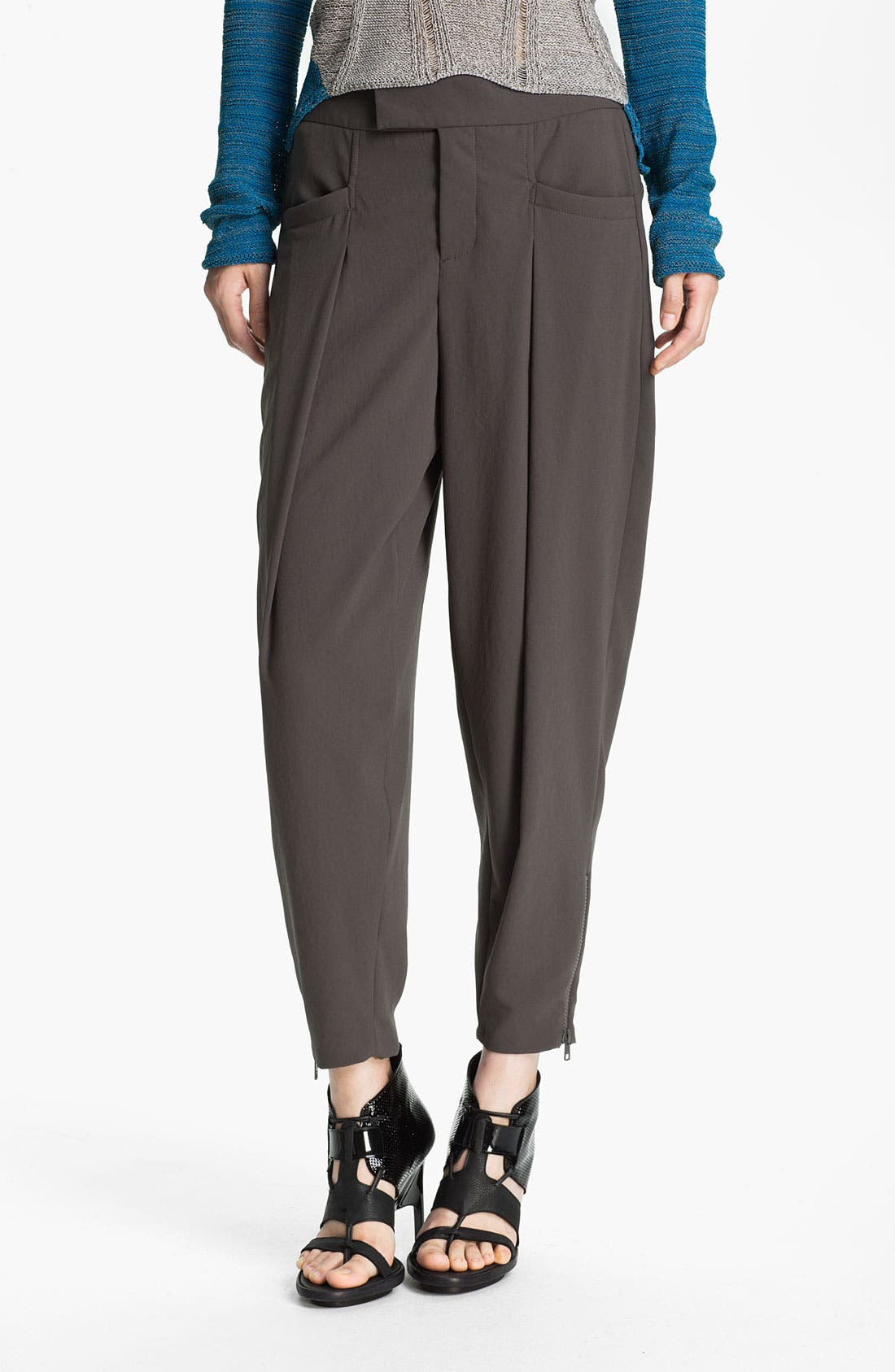 Alternate Image 1 Selected - Helmut Lang Pleated Crepe Crop Pants