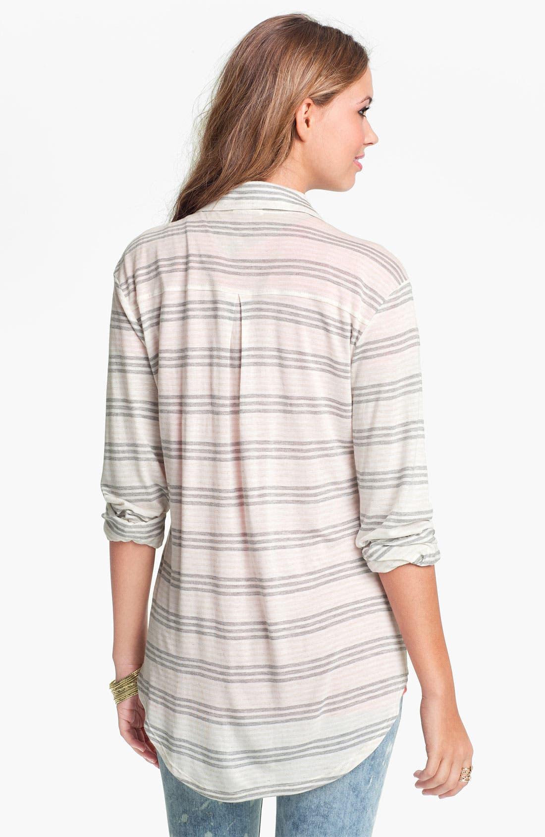 Alternate Image 2  - Love on a Hanger Knit Shirt (Juniors)