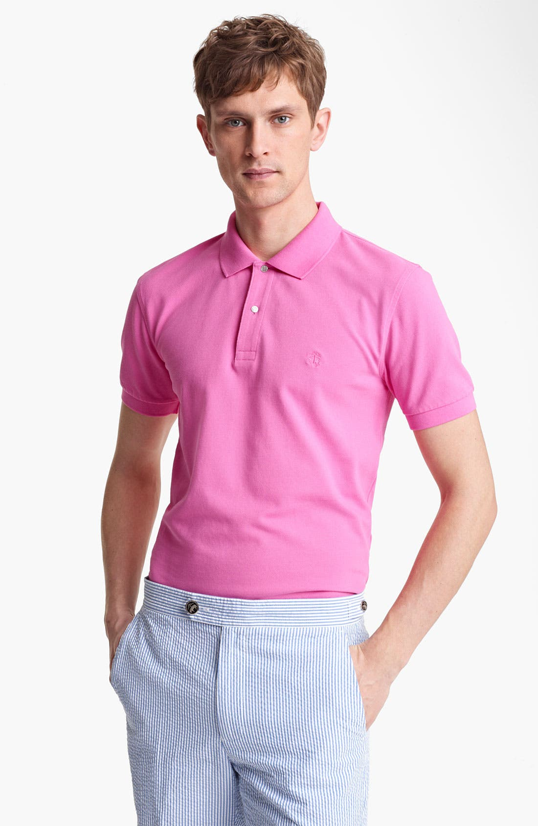 Main Image - Brooks Brothers by Jeffrey Trim Fit Polo