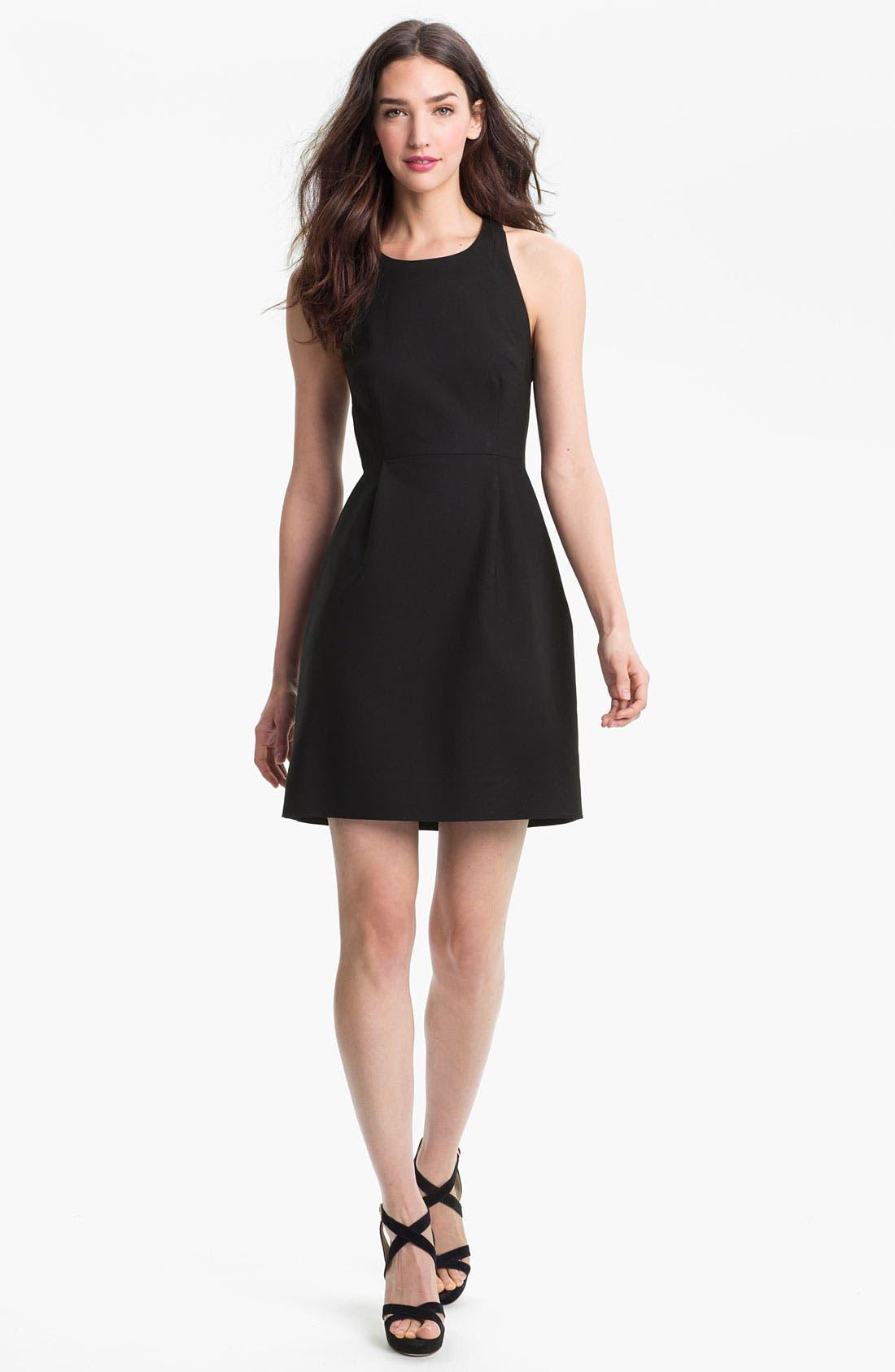 Alternate Image 1 Selected - kate spade new york 'billie' cotton blend fit & flare dress