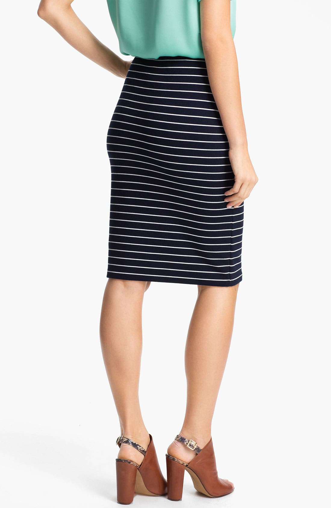 Alternate Image 2  - Vince Camuto Stripe Pencil Skirt