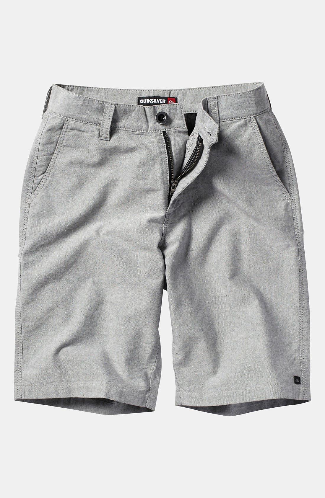 Alternate Image 1 Selected - Quiksilver 'Thurston' Chambray Shorts (Big Boys)