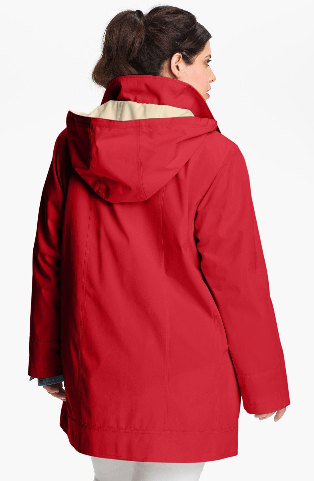 Alternate Image 2  - Gallery Stadium Jacket with Detachable Hood (Plus)