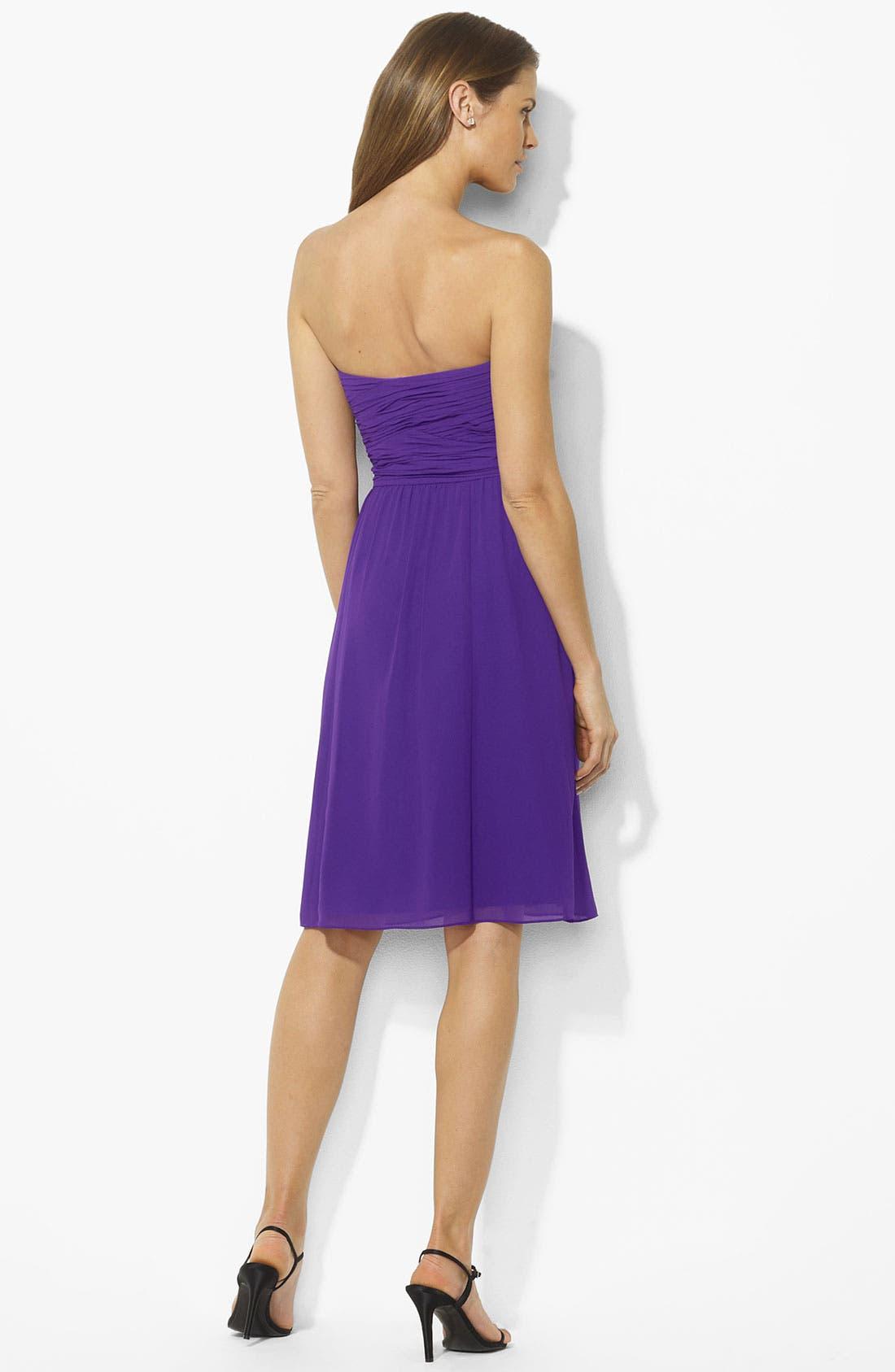 Alternate Image 2  - Lauren Ralph Lauren Ruched Sweetheart Dress