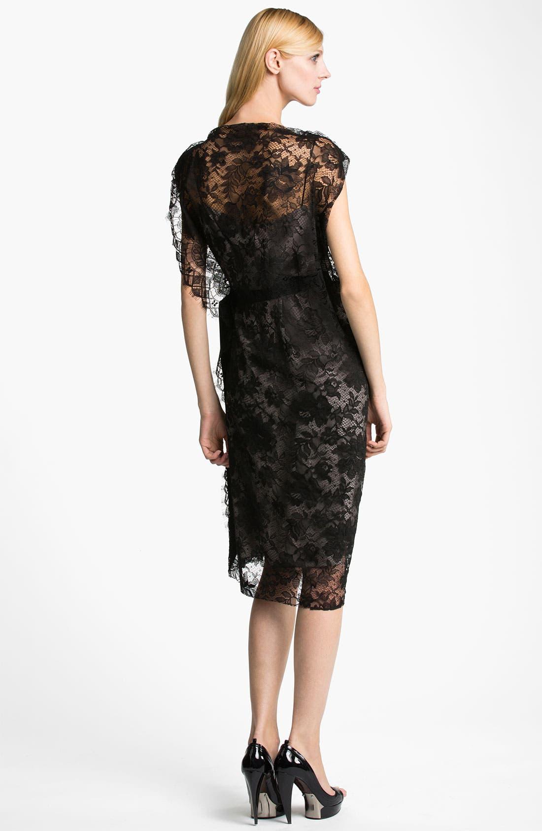Alternate Image 2  - Lanvin Side Draped Lace Dress