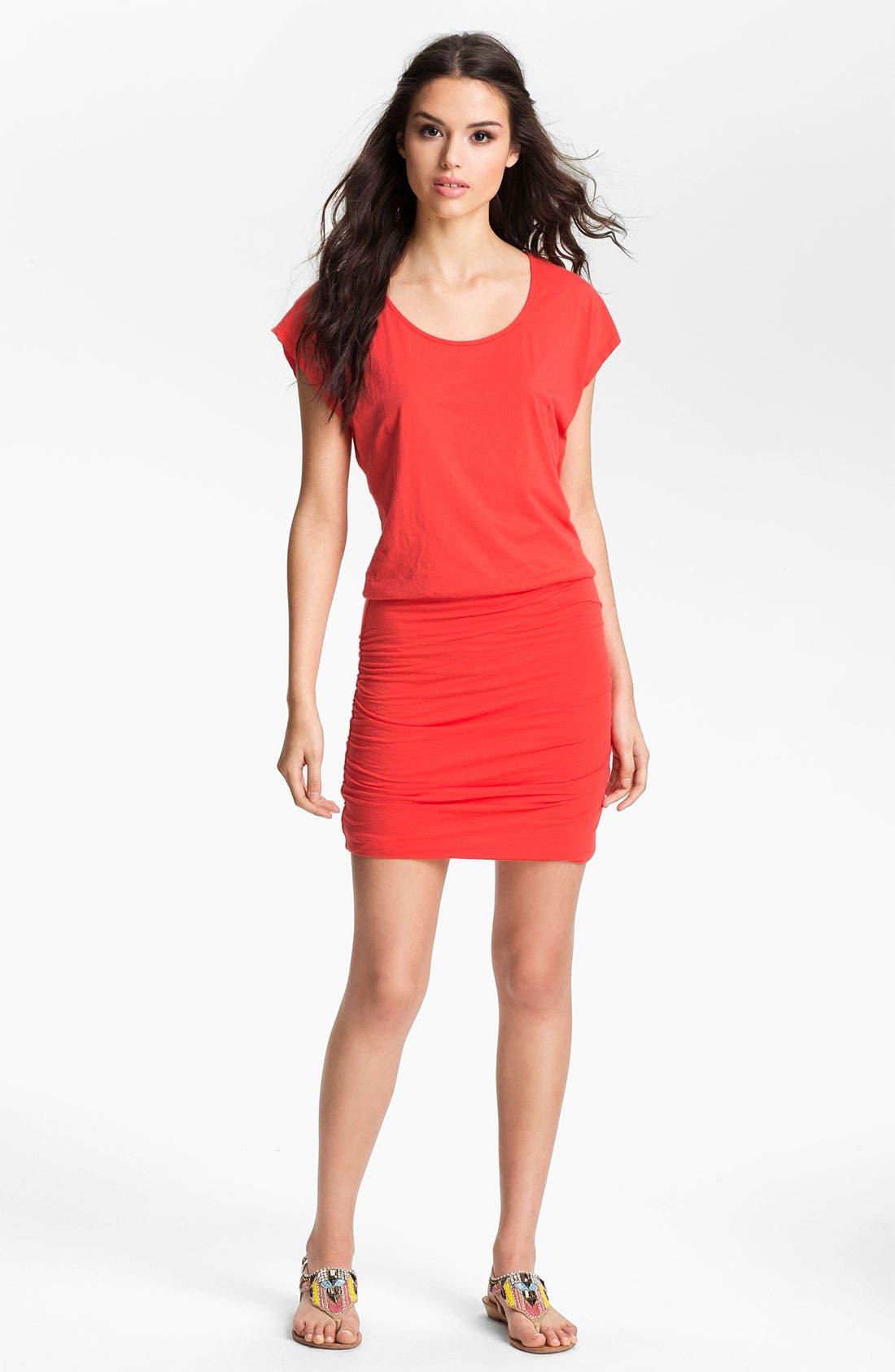 Main Image - Velvet by Graham & Spencer Ruched Jersey Dress