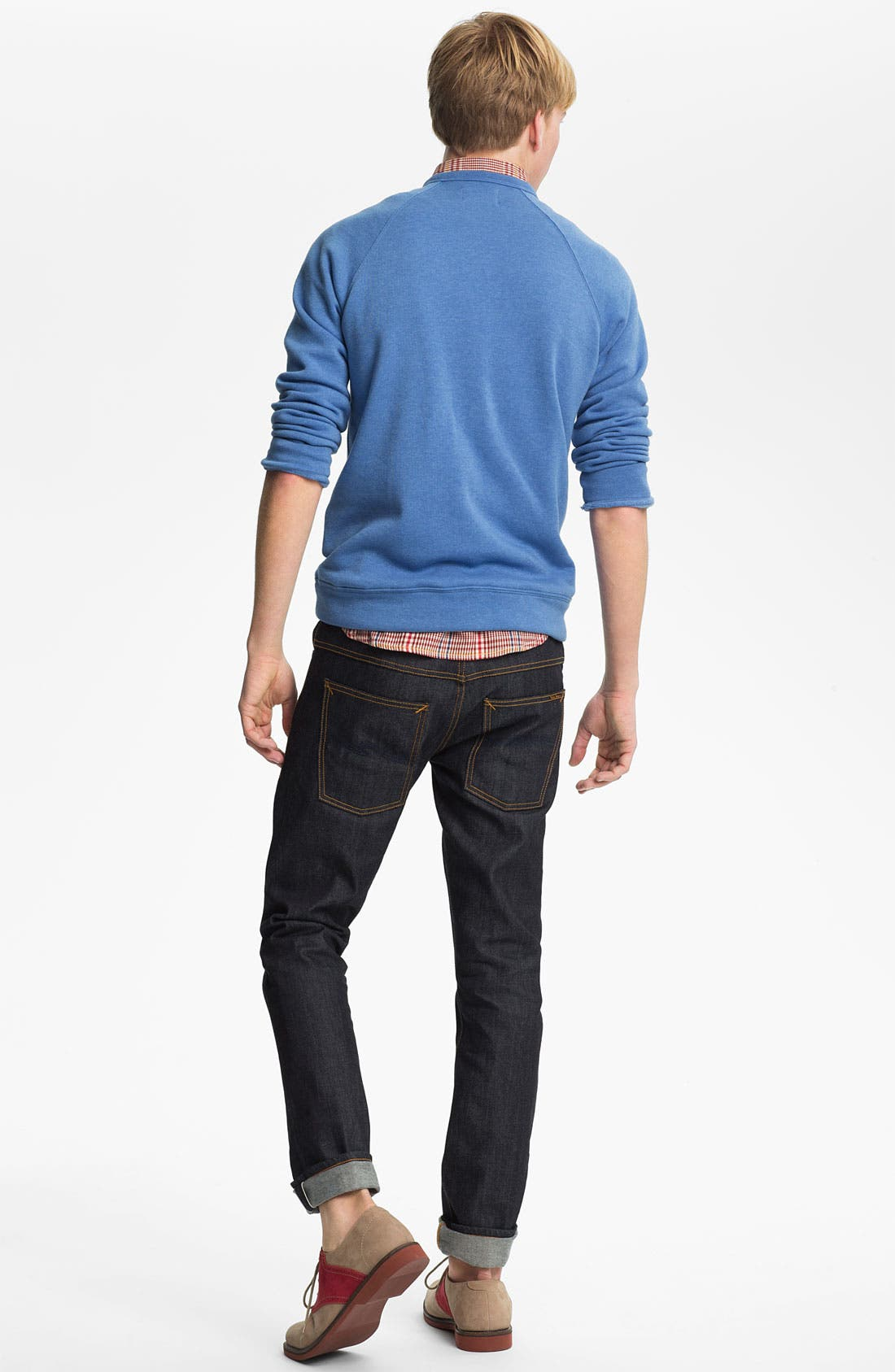 Alternate Image 6  - Nudie 'Thin Finn' Slim Skinny Leg Jeans (Organic Dry Heavy Selvedge)