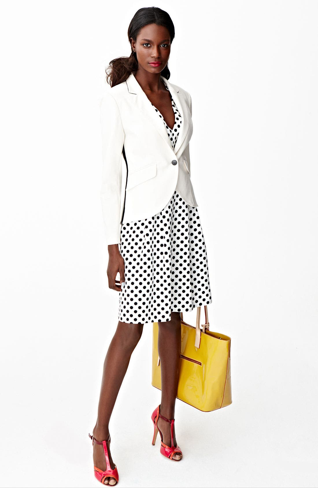 Alternate Image 4  - Adrianna Papell Polka Dot Fit & Flare Dress