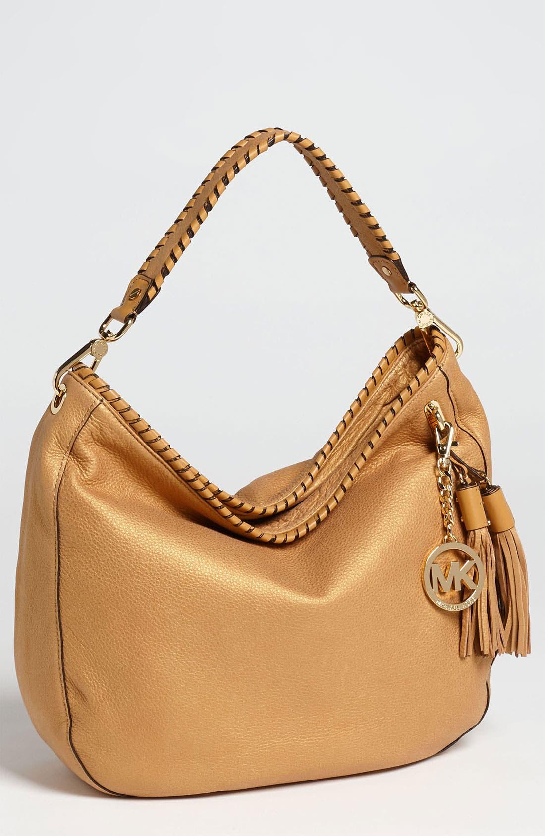 Alternate Image 1 Selected - MICHAEL Michael Kors 'Bennet - Large' Glazed Nubuck Shoulder Bag