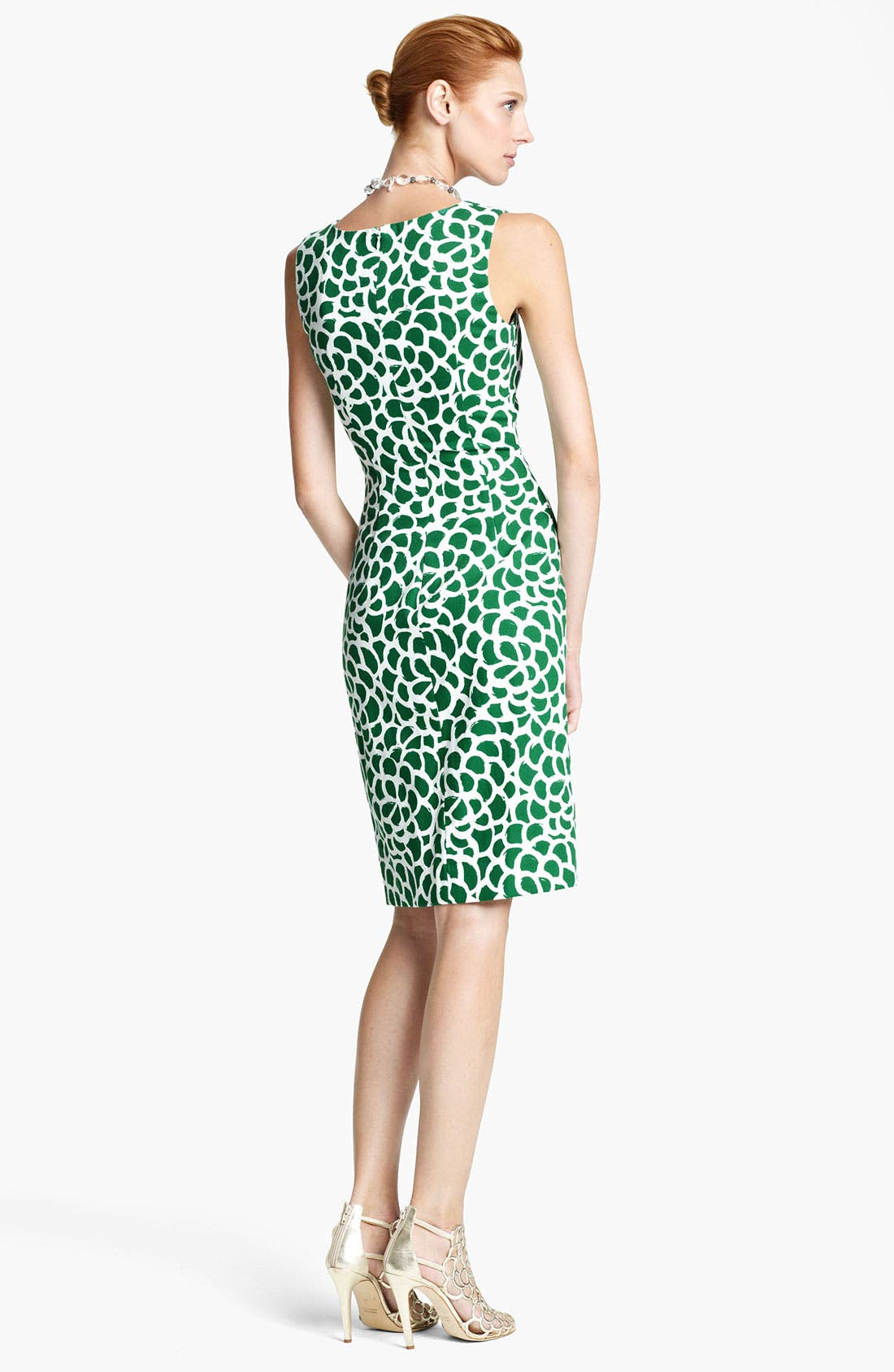 Alternate Image 2  - Oscar de la Renta Print Canvas Dress