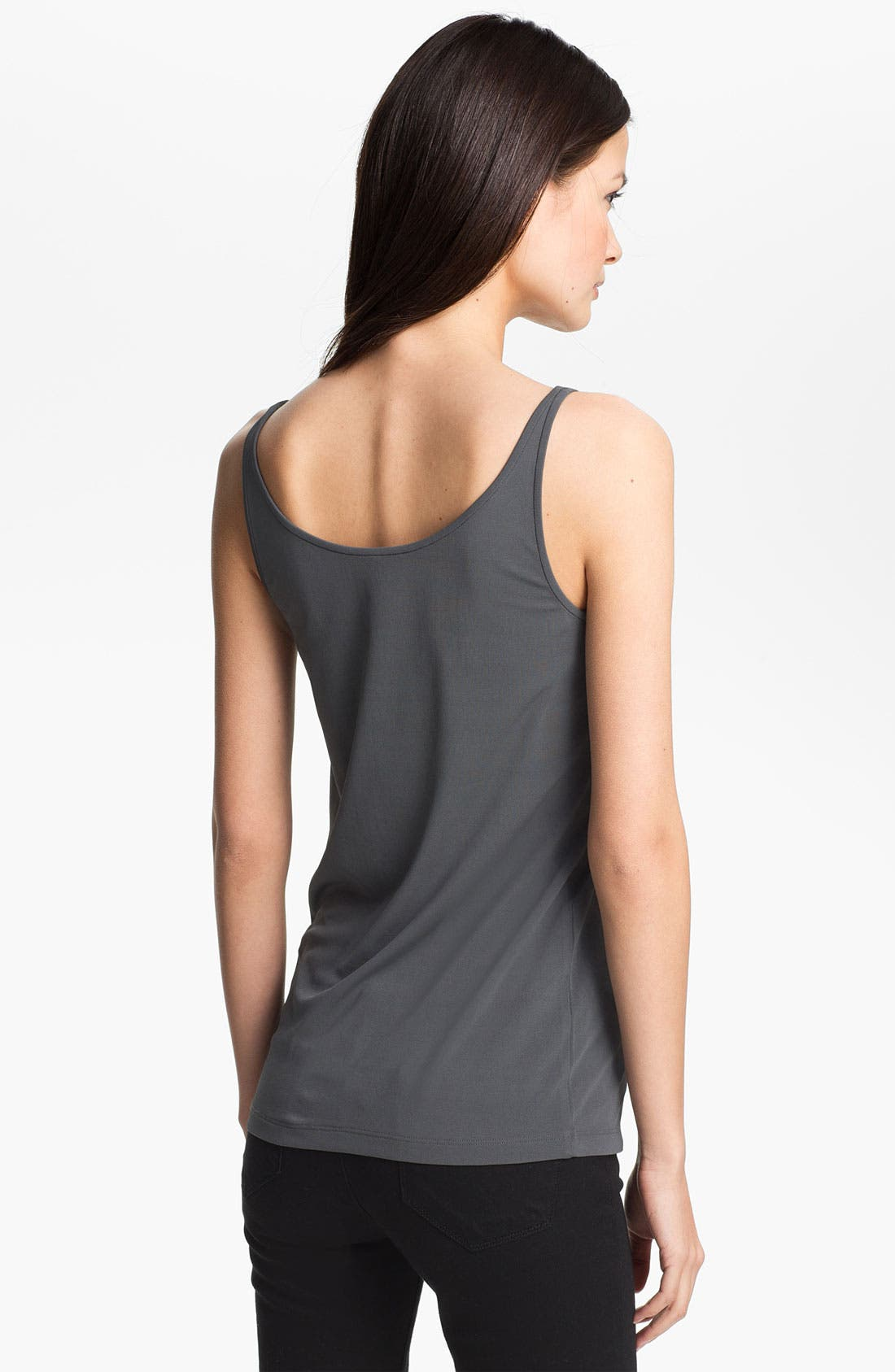 Alternate Image 2  - Eileen Fisher Scoop Neck Silk Camisole (Regular & Petite)