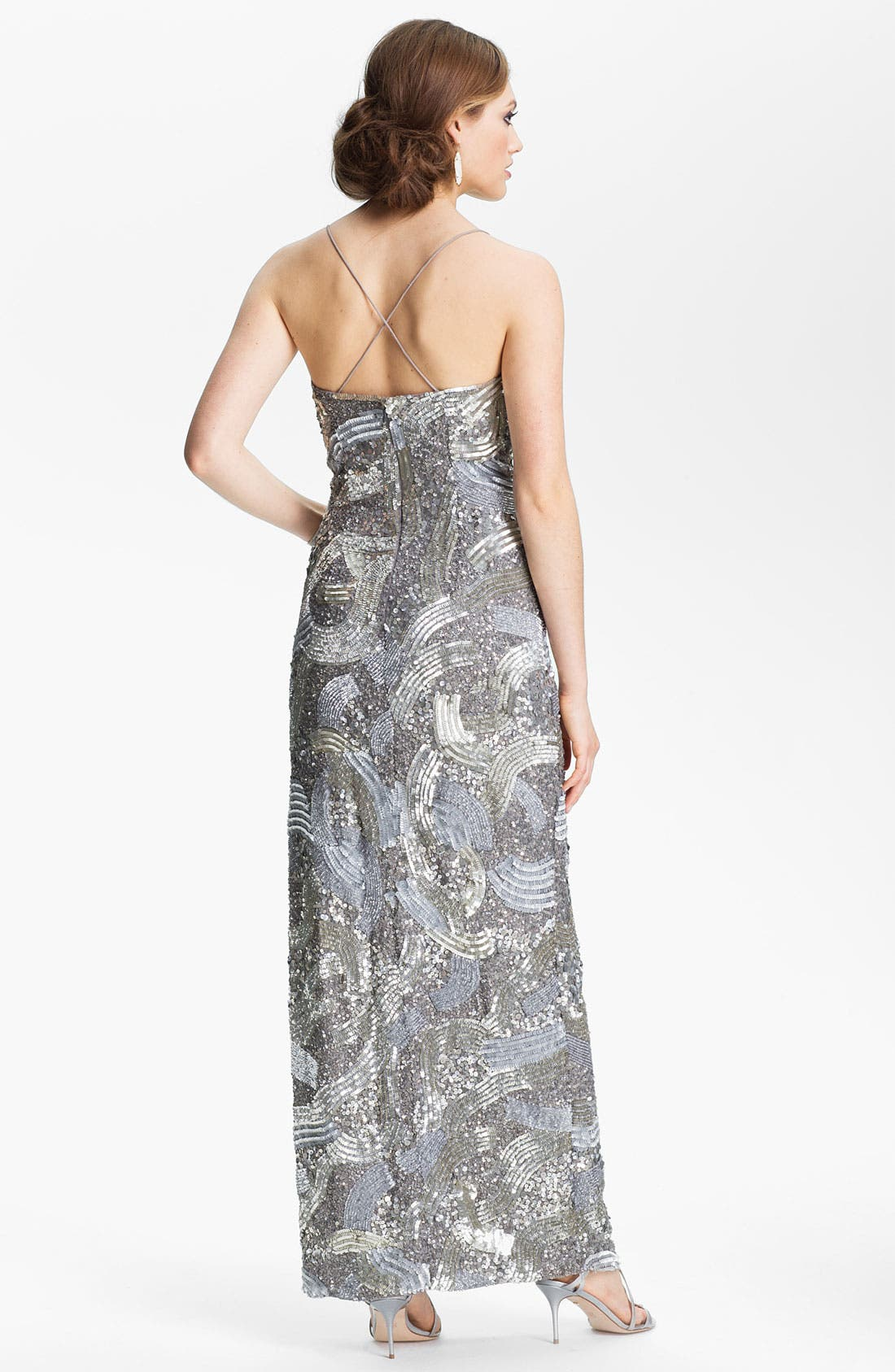 Alternate Image 2  - Sean Collection Sequin Silk Gown (Online Exclusive)