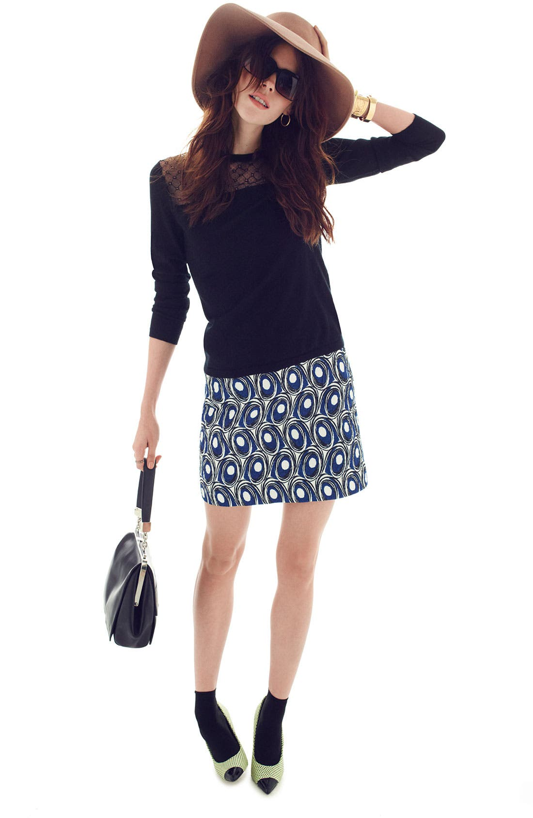 Alternate Image 5  - Miss Wu Abstract Print Jacquard Skirt (Nordstrom Exclusive)