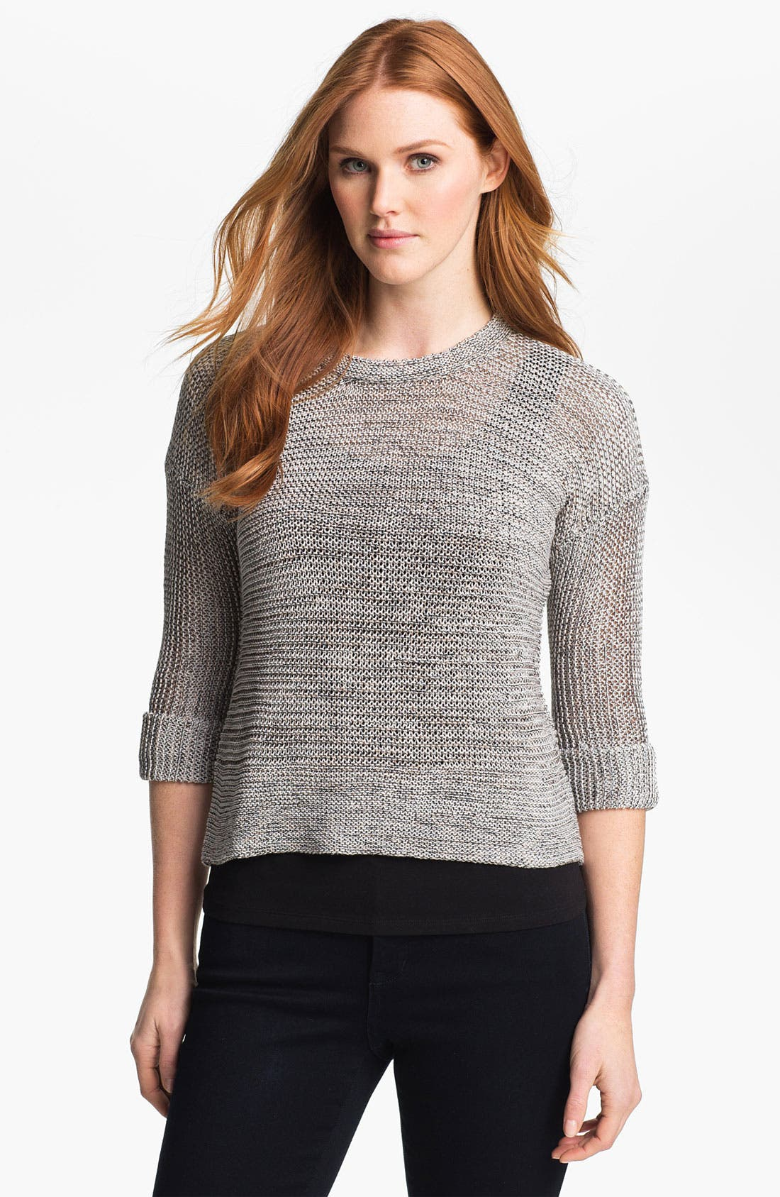 Alternate Image 1 Selected - Nic + Zoe Tape Knit Sweater (Online Exclusive)