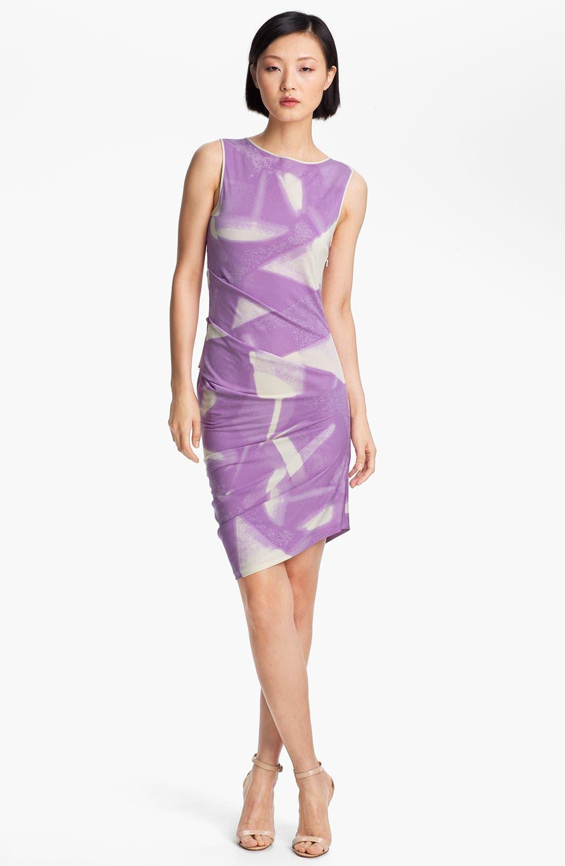Main Image - Halston Heritage Abstract Print Dress