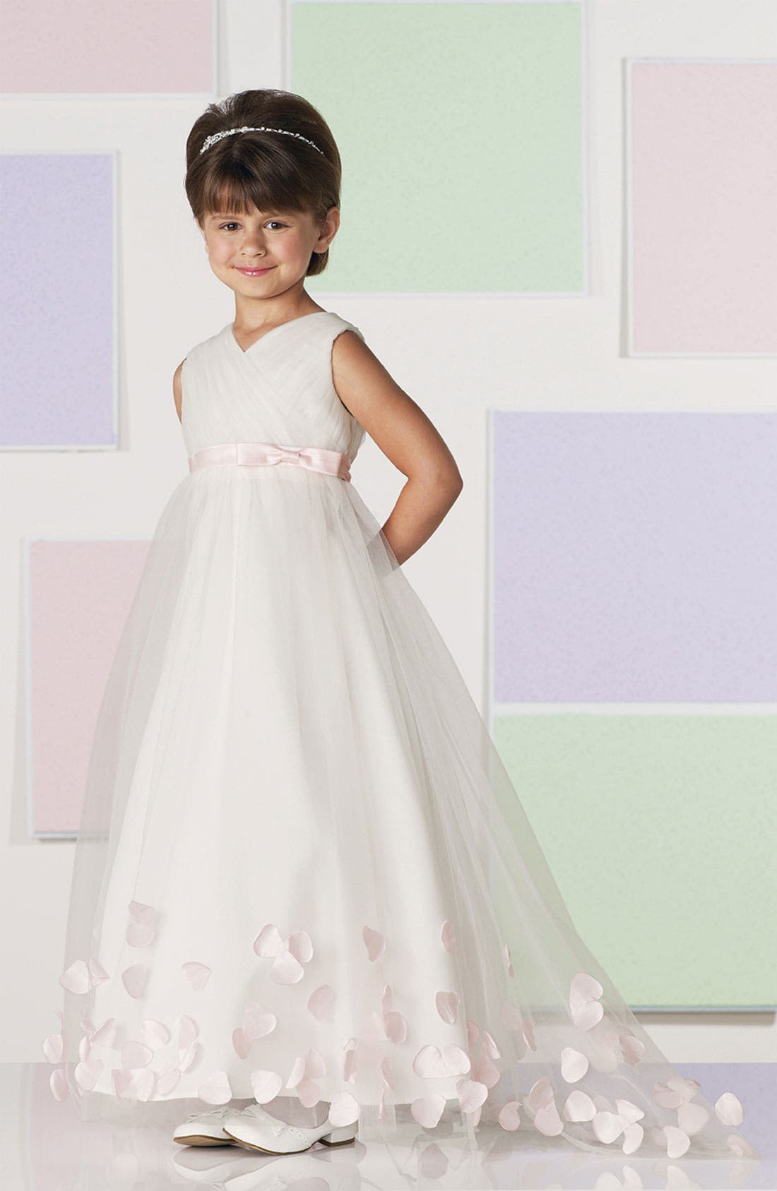 Alternate Image 3  - Joan Calabrese for Mon Cheri Tulle & Taffeta Floor Length Dress (Little Girls & Big Girls)