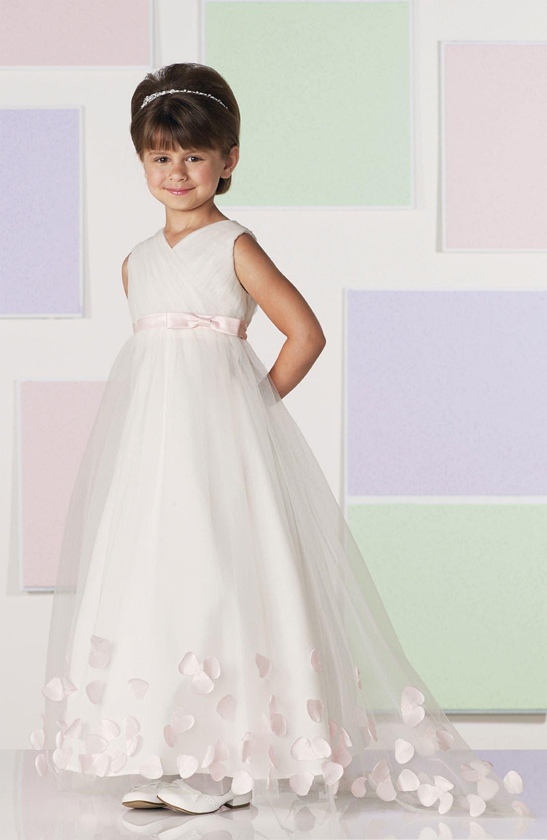 Alternate Image 3  - Joan Calabrese for Mon Cheri Tulle & Taffeta Floor Length Dress (Little Girls & Big Girls)