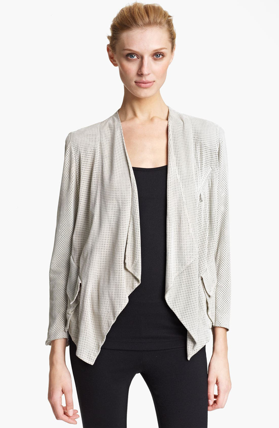 Alternate Image 1 Selected - Donna Karan Collection Perforated Suede Jacket
