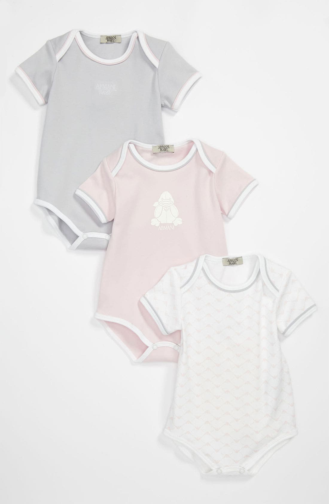 Alternate Image 1 Selected - Armani Junior Bodysuit Set (Baby)