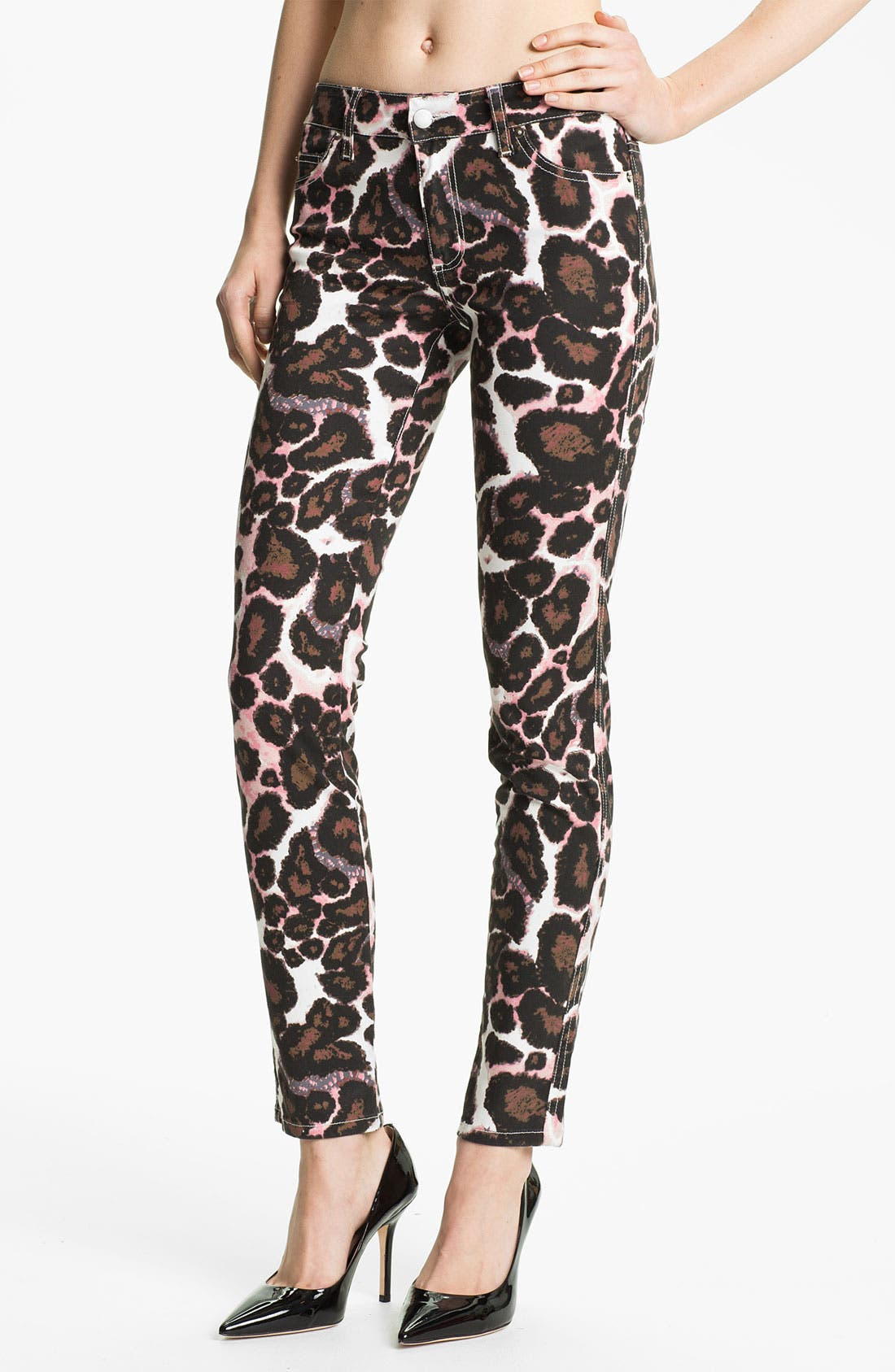 Alternate Image 1 Selected - Rebecca Minkoff Animal Print Skinny Pants