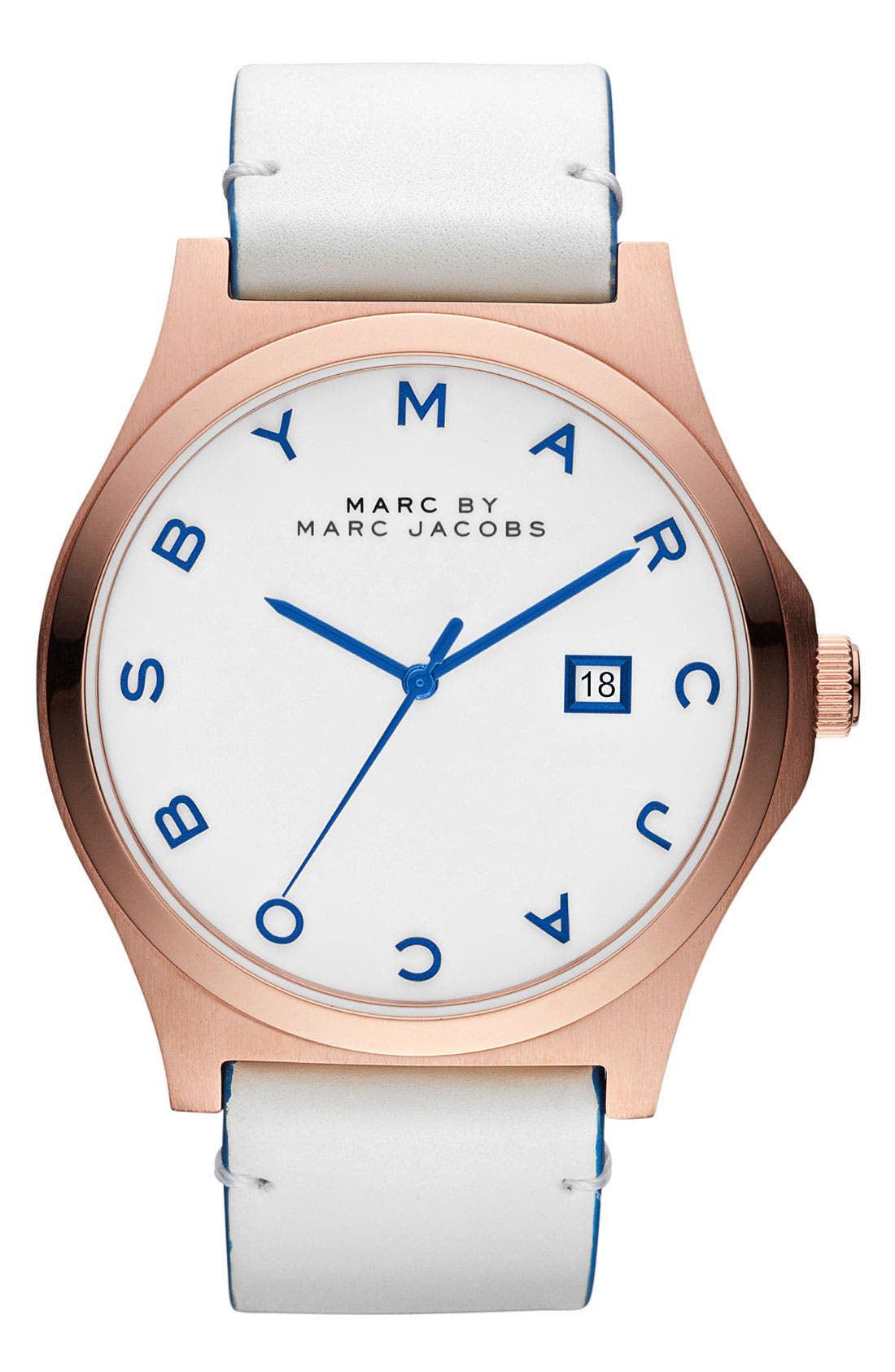 Main Image - MARC BY MARC JACOBS 'Henry' Leather Strap Watch