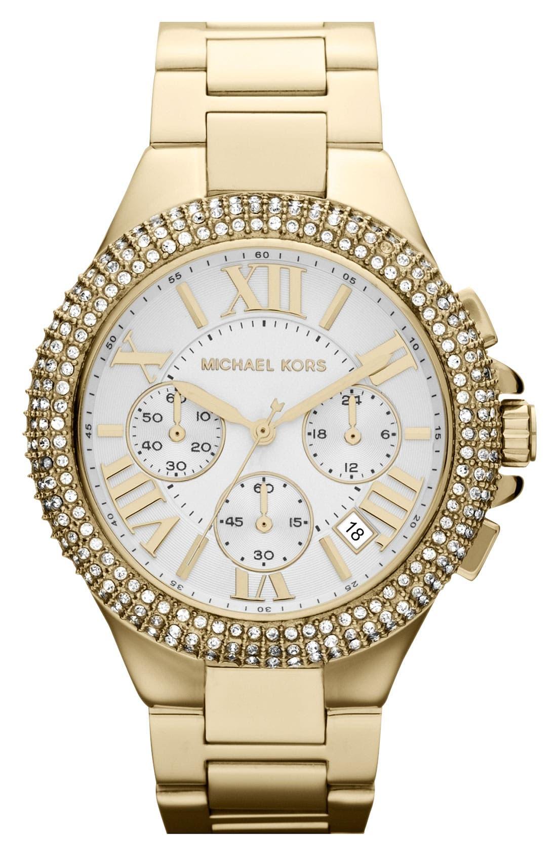 Alternate Image 1 Selected - Michael Kors 'Camille' Chronograph Bracelet Watch, 43mm