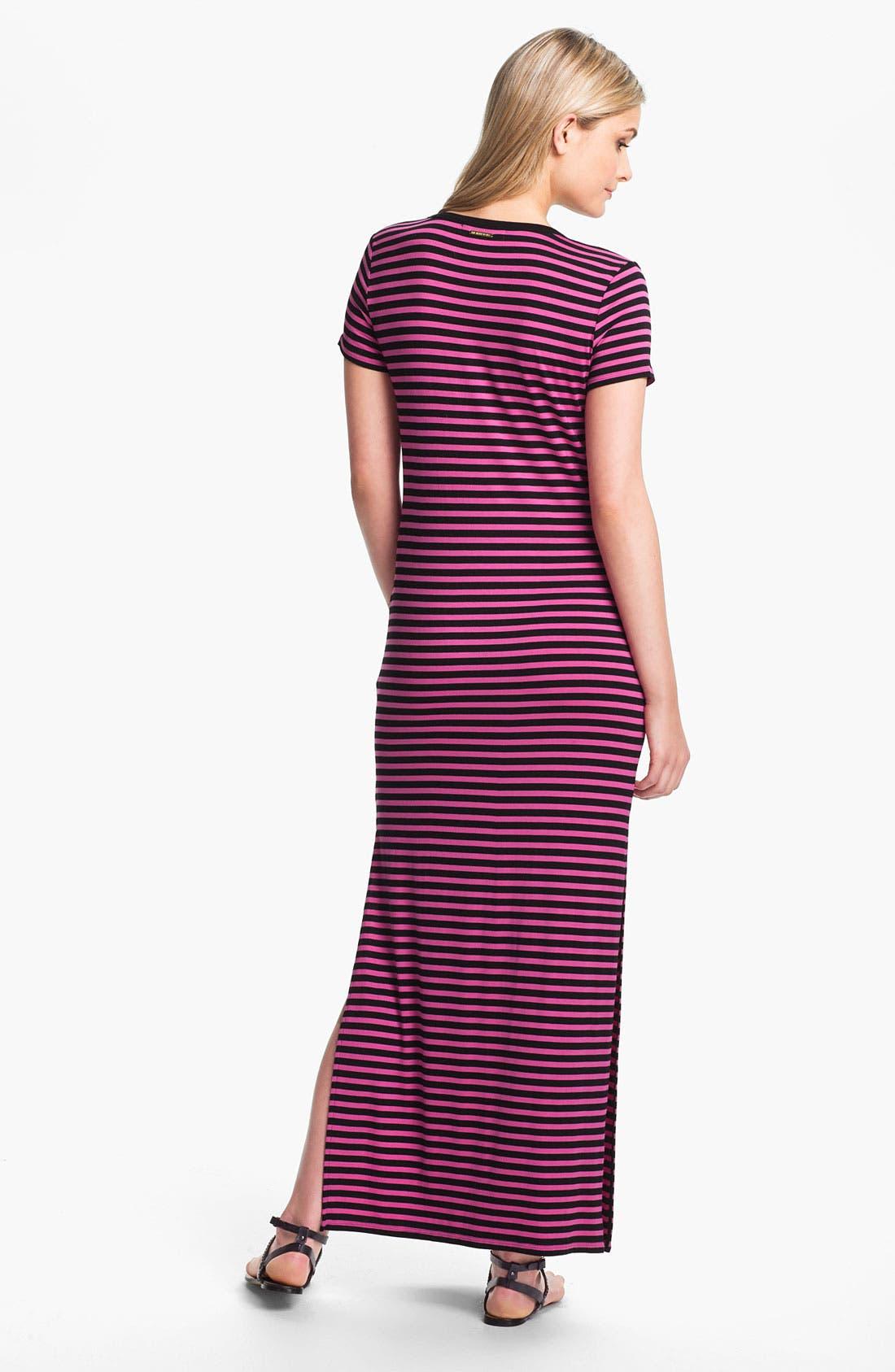 Alternate Image 2  - MICHAEL Michael Kors Stripe Maxi Dress