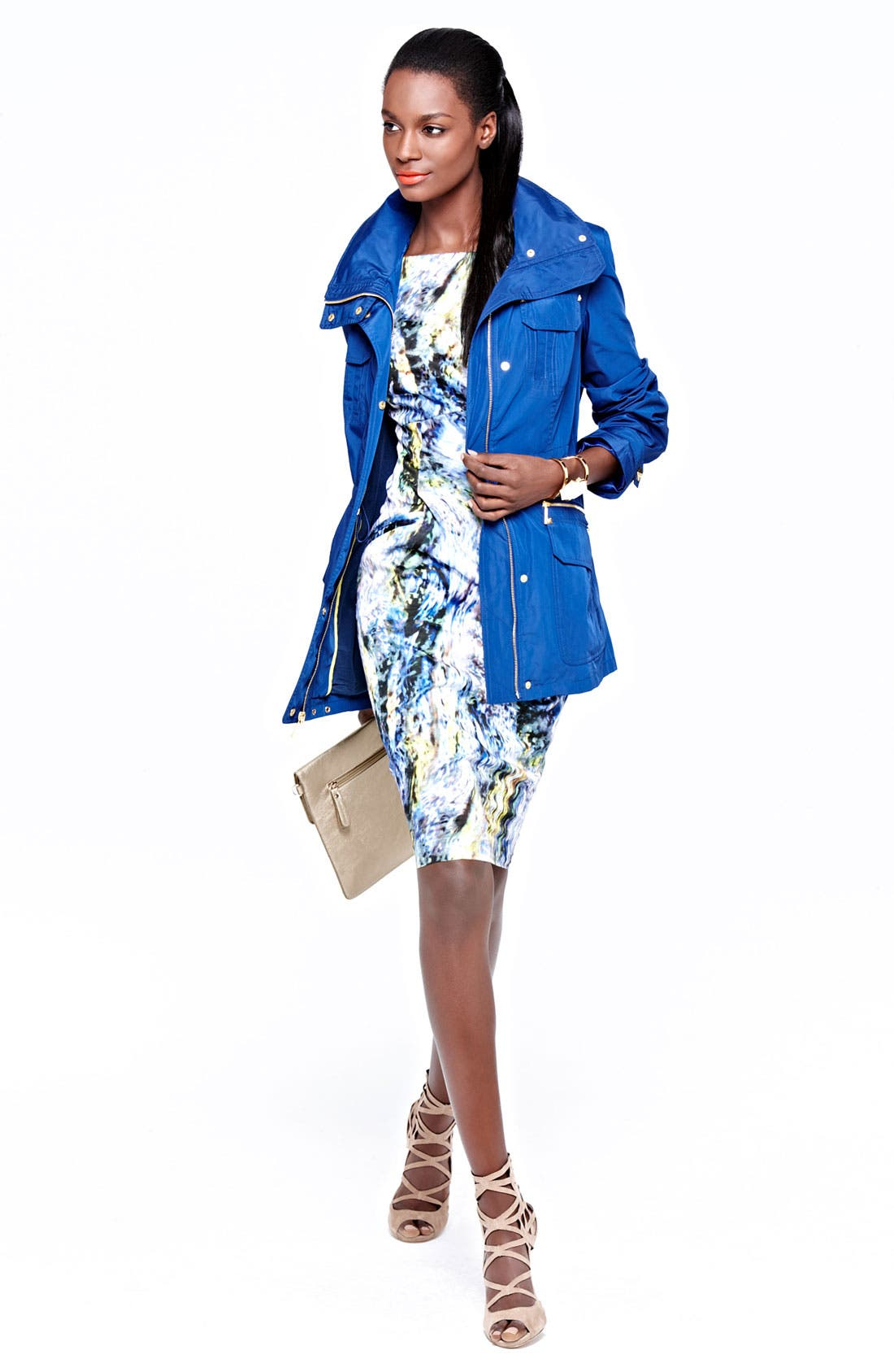 Alternate Image 1 Selected - MICHAEL Michael Kors Anorak & Maggy London Sheath Dress