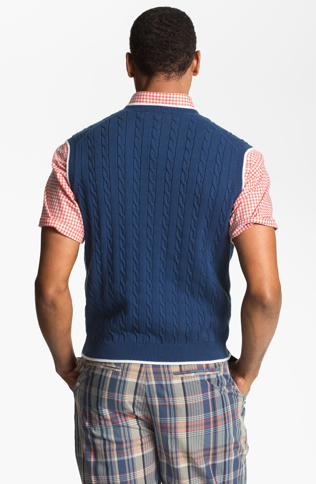 Alternate Image 2  - Brooks Brothers Cable Knit Sweater Vest