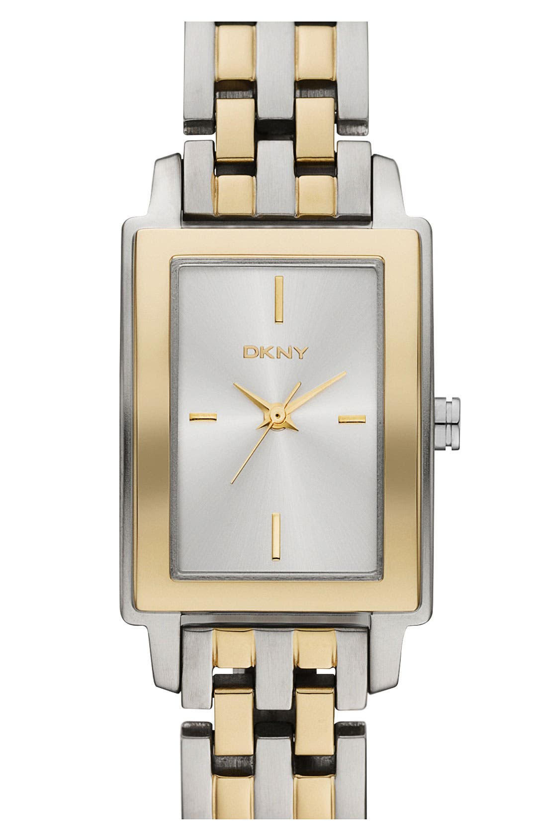 Alternate Image 1 Selected - DKNY Rectangular Bracelet Watch, 23mm x 28mm