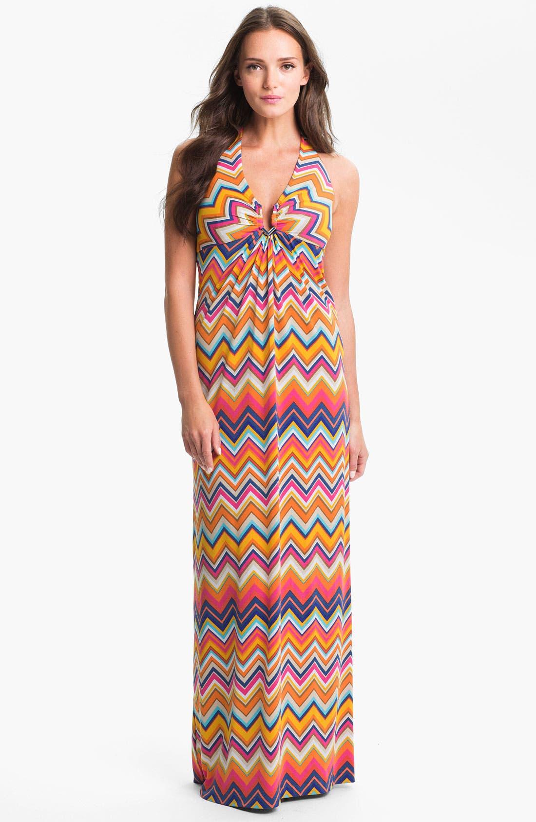 Main Image - Trina Turk 'Patio' Halter Stripe Maxi Dress