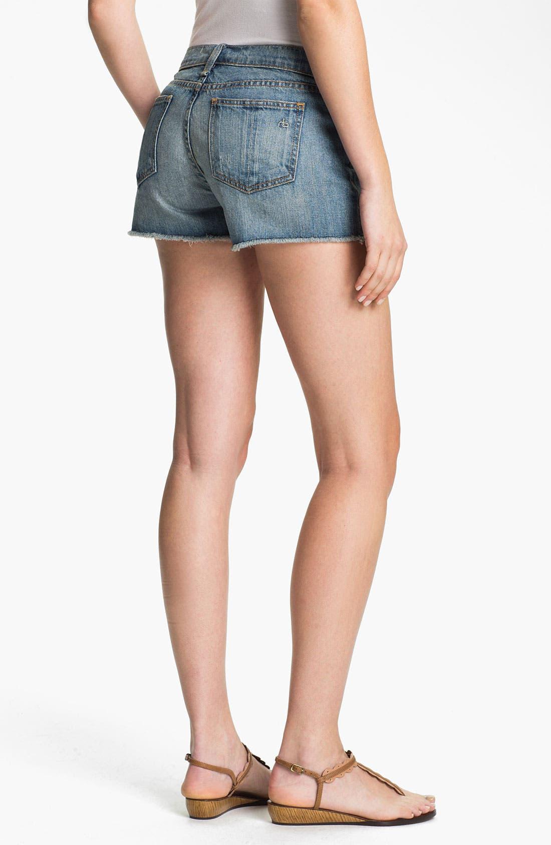Alternate Image 2  - rag & bone/JEAN 'The Cutoff' Denim Shorts