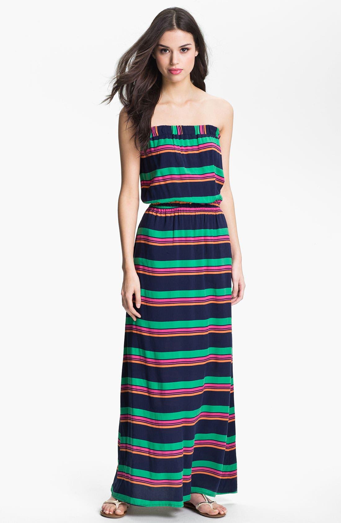 Main Image - Splendid Stripe Strapless Maxi Dress