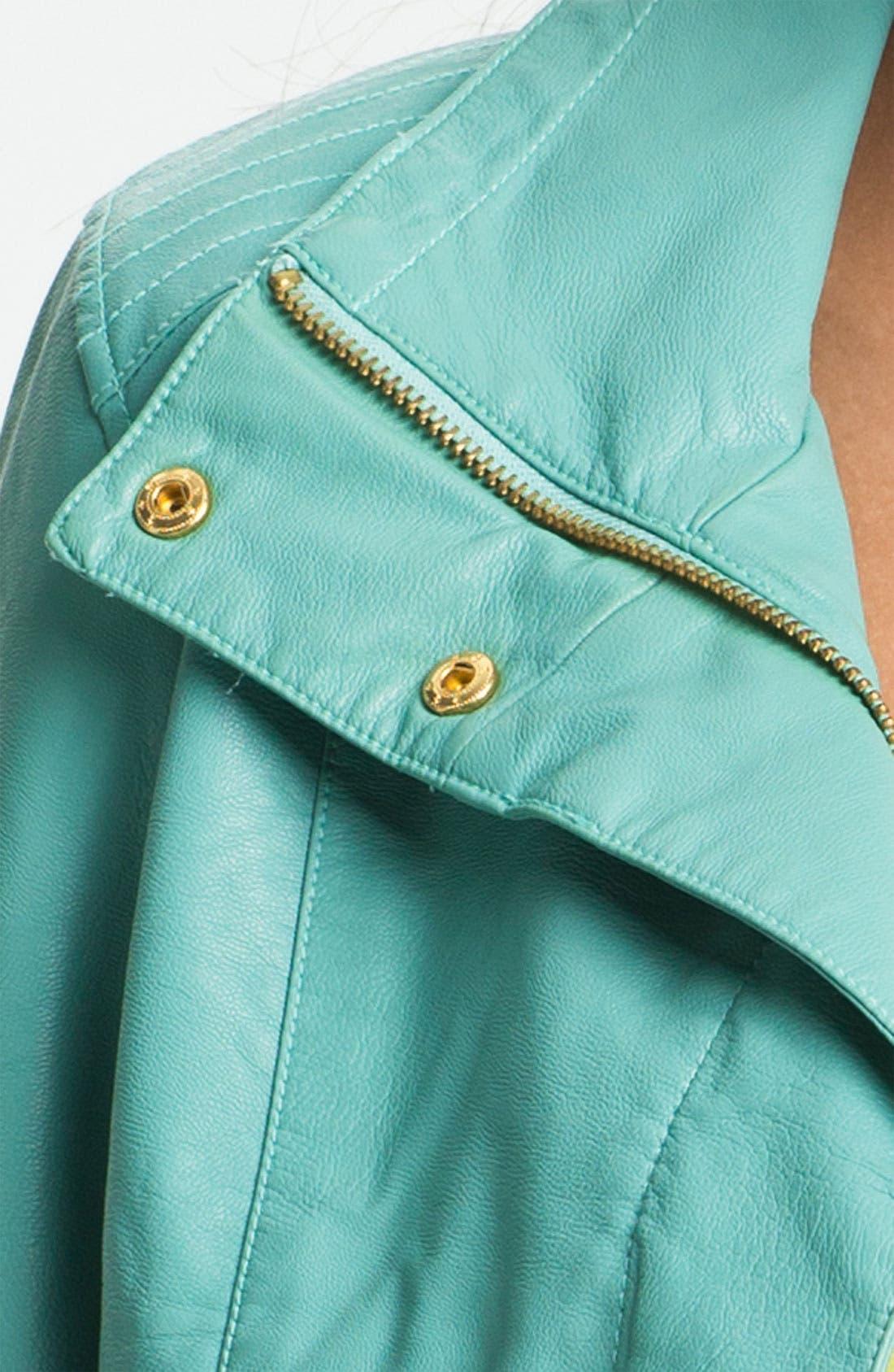 Alternate Image 3  - KUT from the Kloth 'Elana' Faux Leather Scuba Jacket