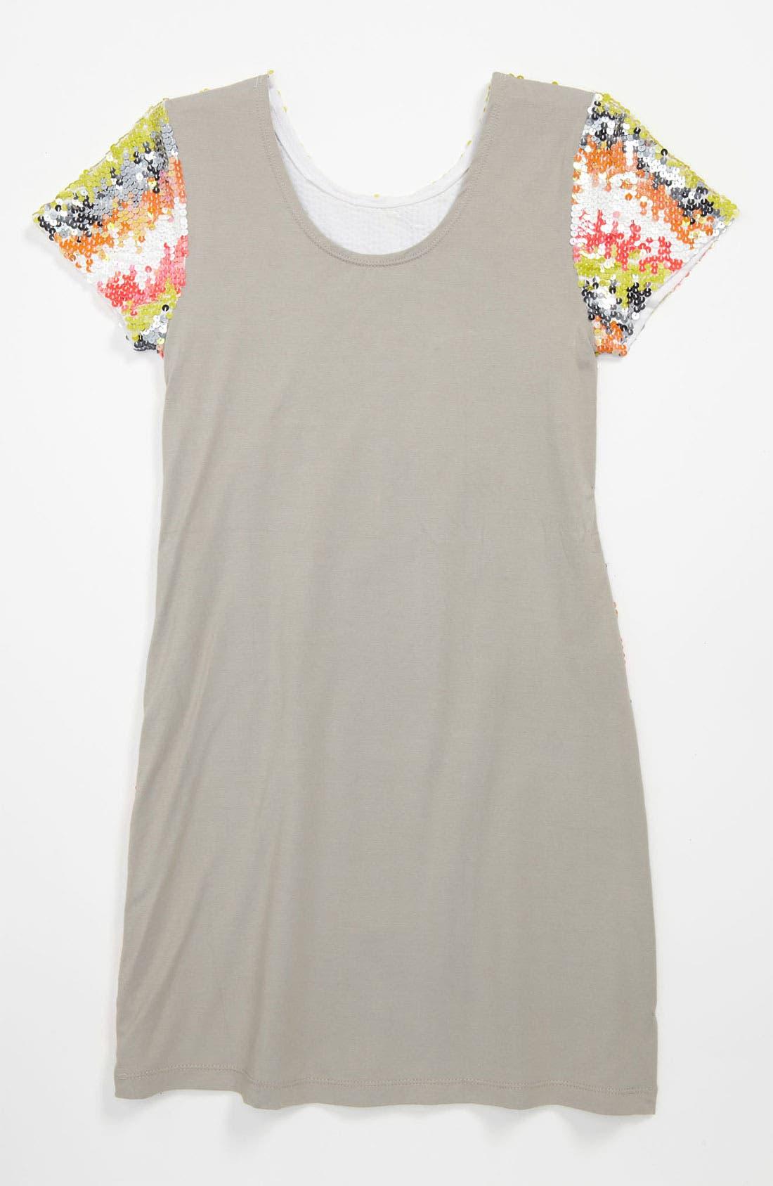 Alternate Image 2  - Flowers by Zoe Sequin Dress (Big Girls)